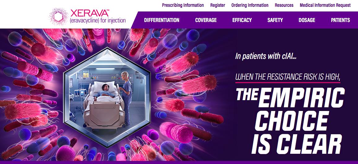 XERAVA antibiotic campaign