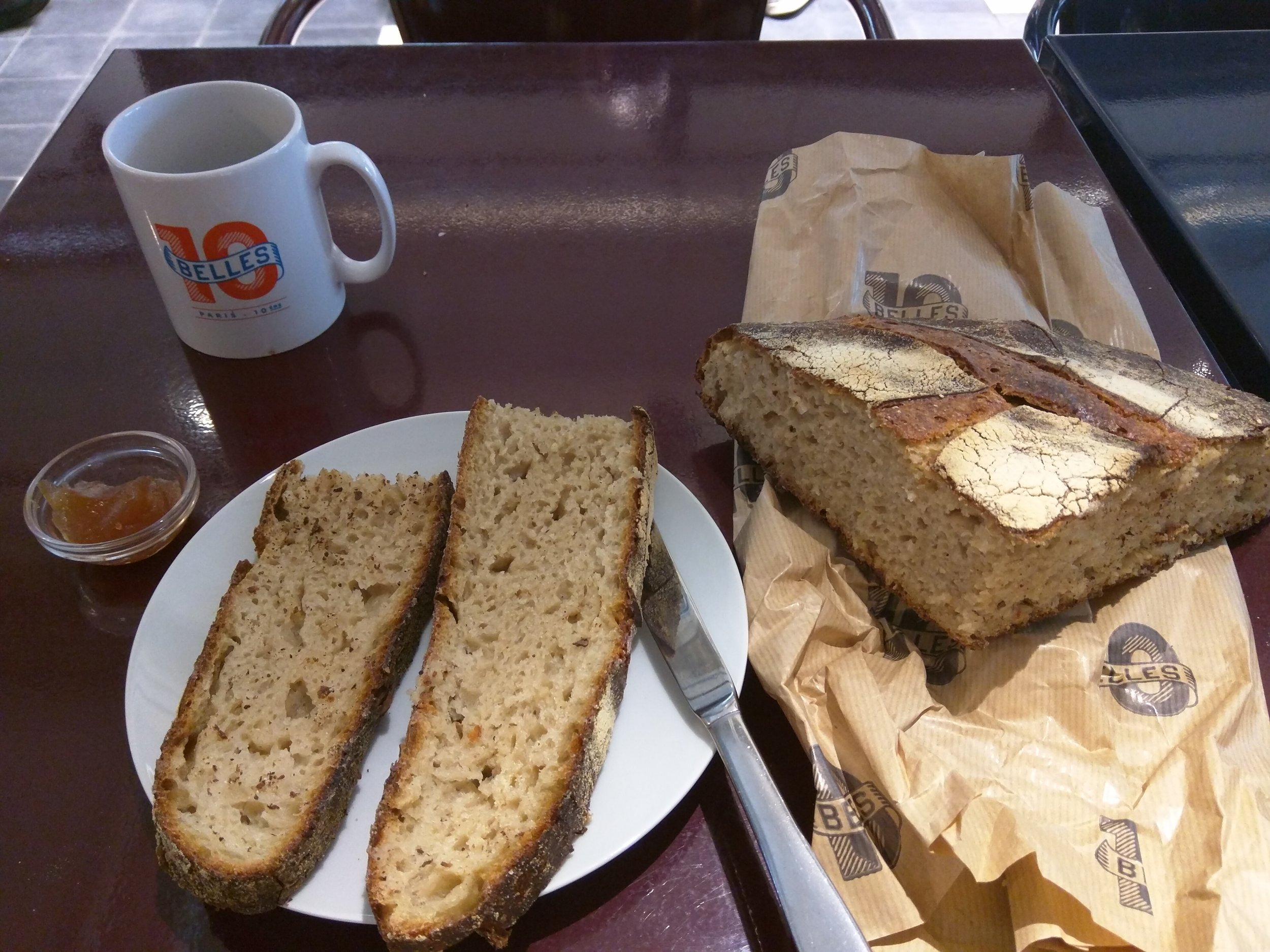 Sourly delighted at 10 belles, with and Ancien Bread and a Salvadorian coffee.