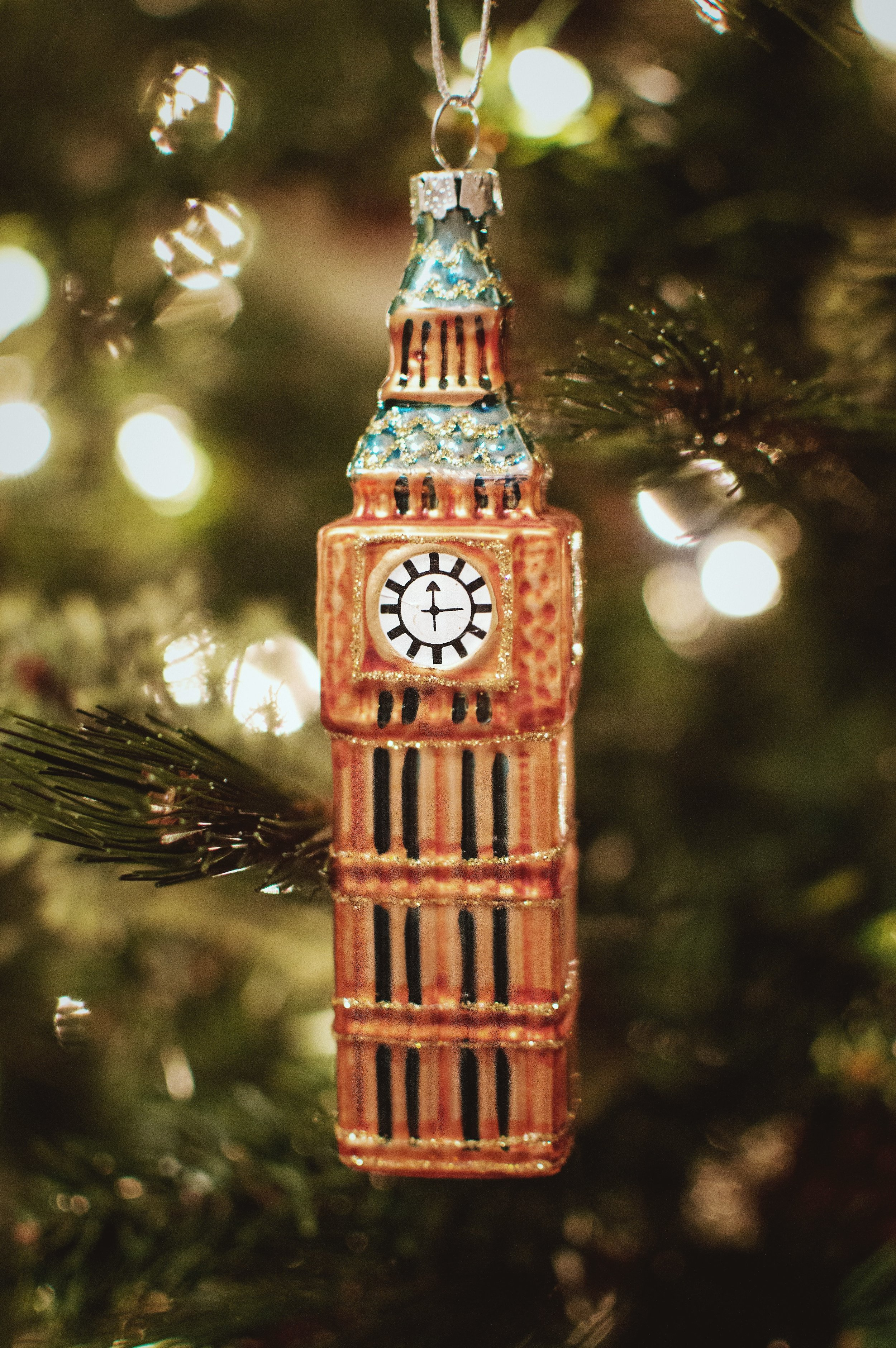 Big Ben. Purchased on our trip to London from a gift shop across the street. It's easily my most favorite landmark. The fact it survived TSA to get to the states in one piece earns it a spot on our tree.