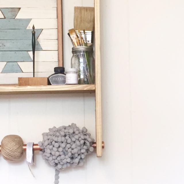 Cedar Copper Shelf