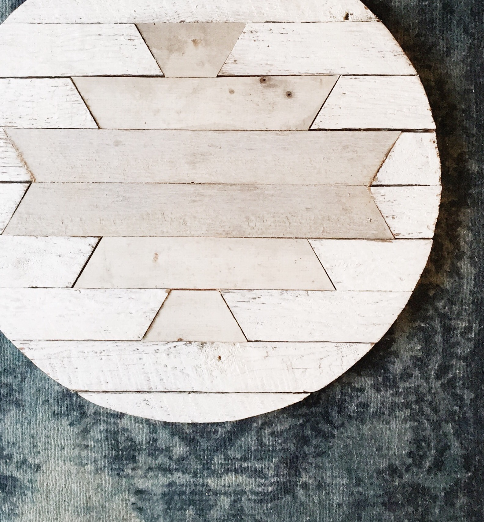 Reclaimed Wood Round Tribal