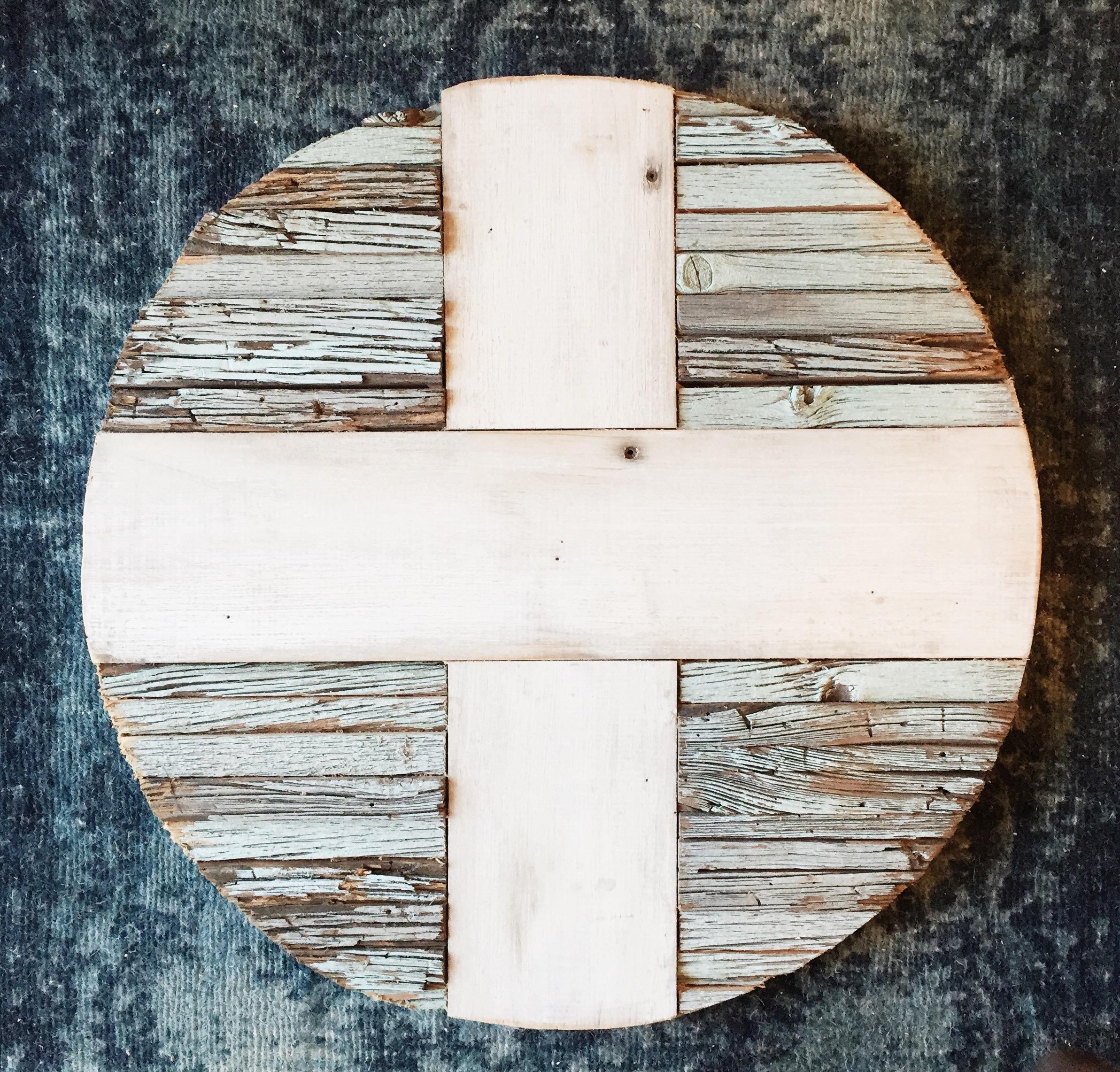 Reclaimed Wood Swiss Cross