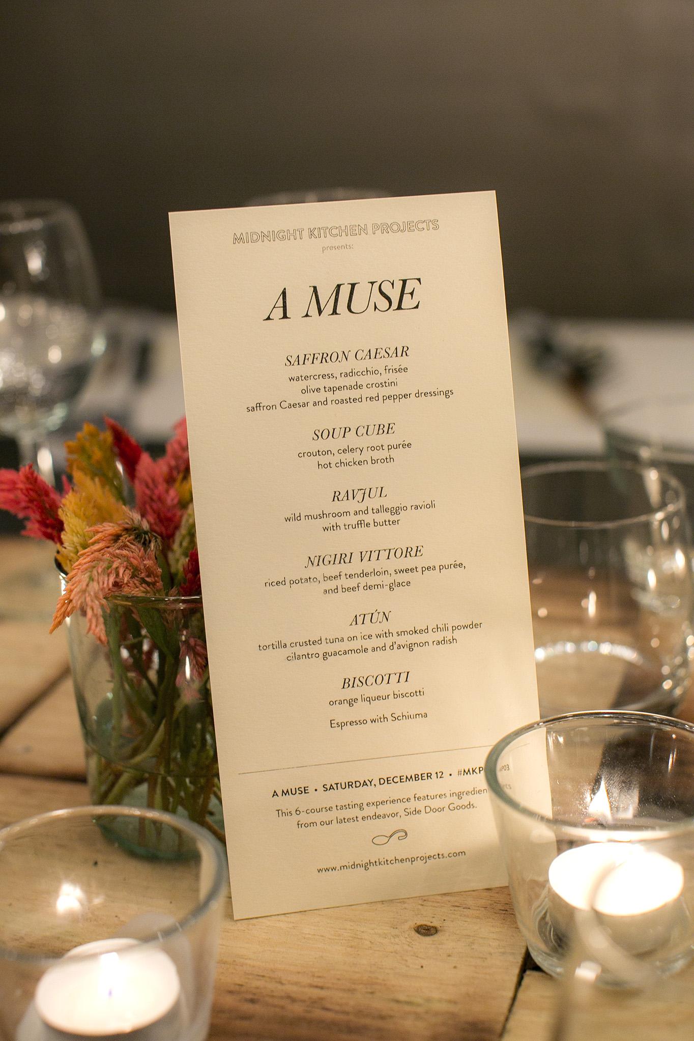 A MUSE menu