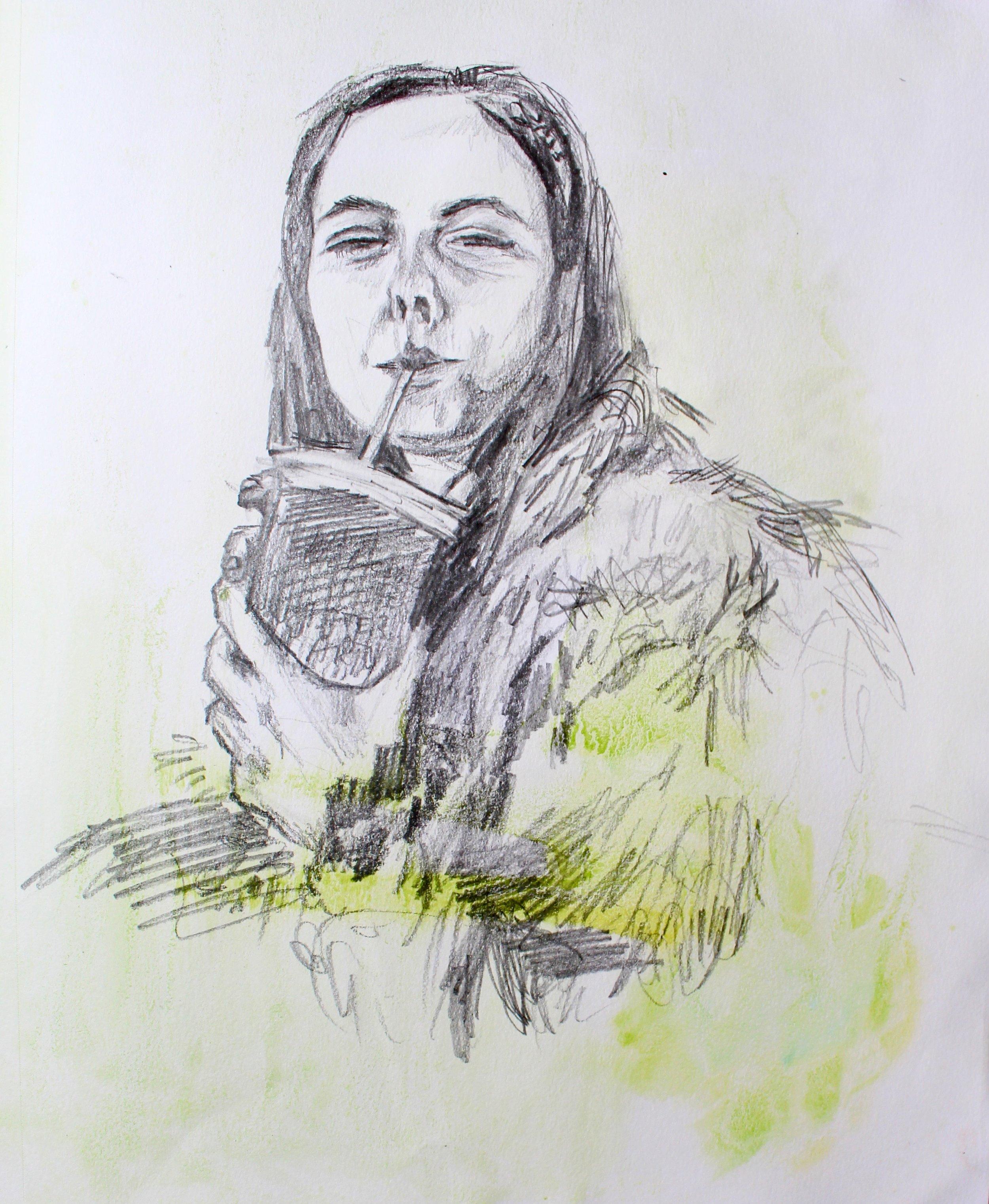 Graphite & Watercolor