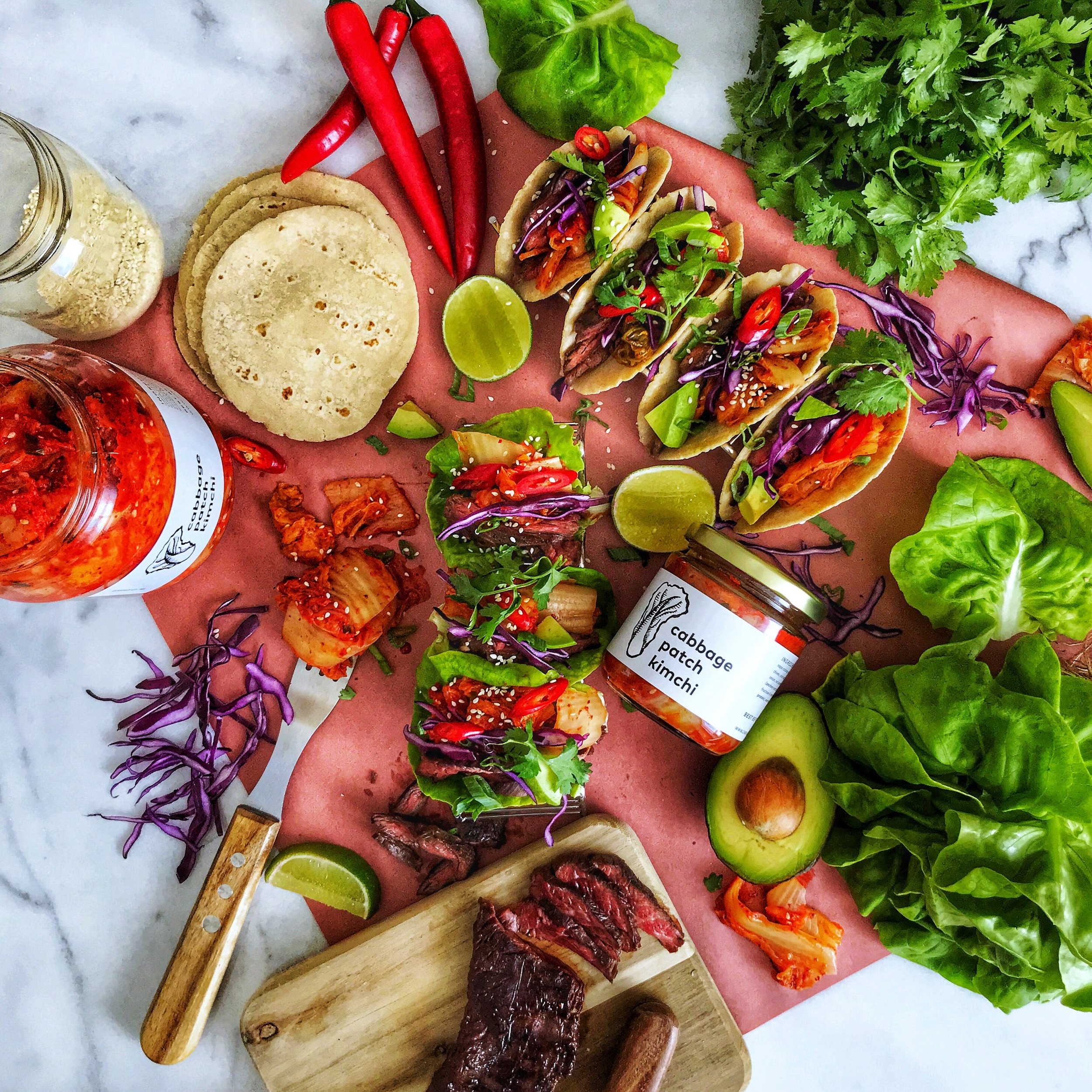 Bulgogi Skirt Steak Tacos -