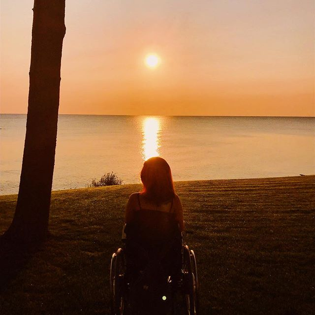 "Lake Huron sun rising. ""The darkness is at its deepest.  Just before sunrise."" -Voltaire . . . . —— #wheelchairlife #wheelchairgirl #wheelchairtravel #accessibletravel #travelblogger #michigan #puremichigan #lakehuron #beboundless #travellikeagirl #girlswhowander #365dayswithadisability #femaletravelbloggers #wheeliesaroundtheworld #instagood #photooftheday #sunrise"