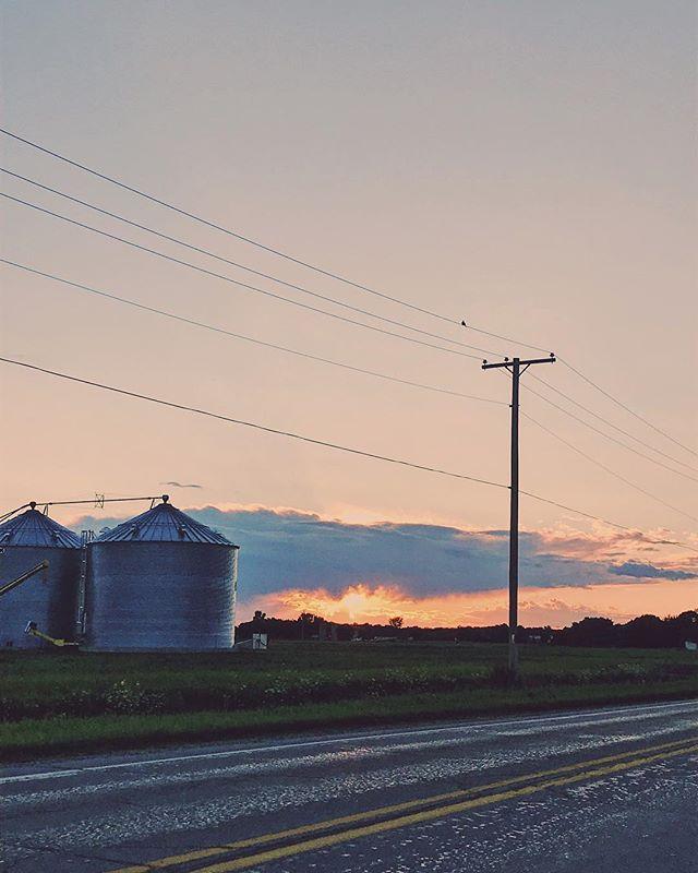 Silo sunset post rain. #flashbackfriday #wheelchairtravel #sunset