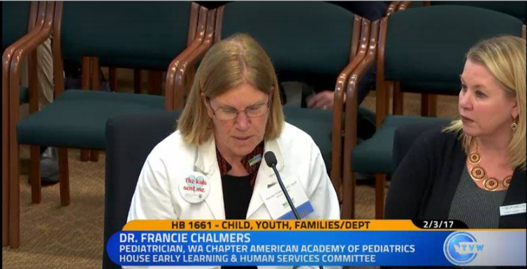Dr. Francie Chalmers testifying in support of HB 1661