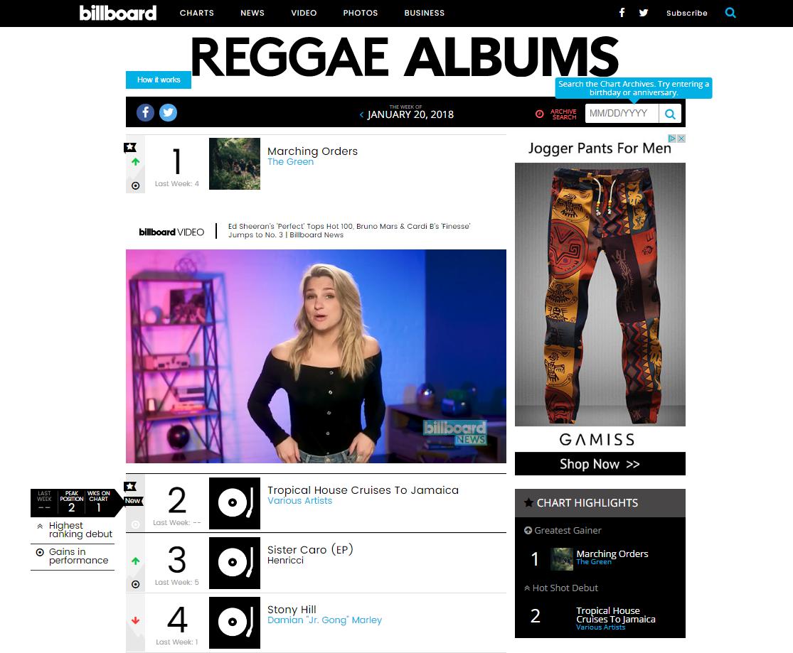 Billboard Reggae Chart Debut.png