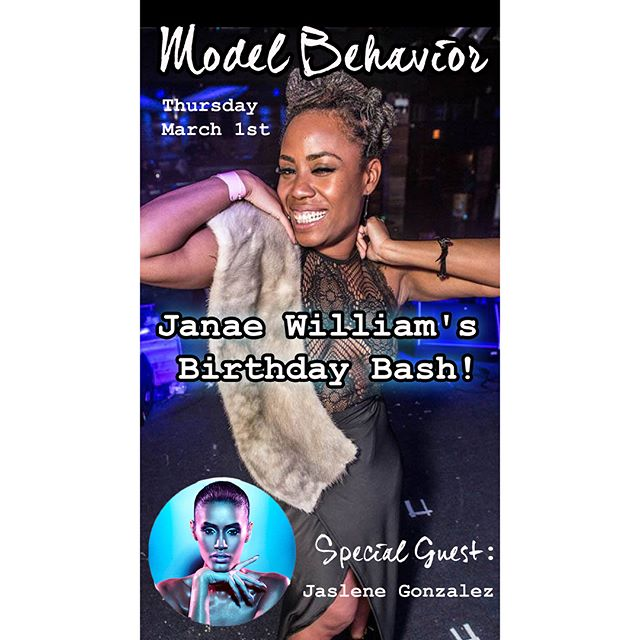 Thursday 👉🏽Tomorrow! 😃Guest Host @jaslenegonzalez from ANTM & @peachpartyofficial. Tunes all night from @deejayallthewaykay & @lilpettycrocker 🙌🏽 Catwalk featuring queer designer @emma_alamo 💕#ChicagoQueers #ModelBehavior