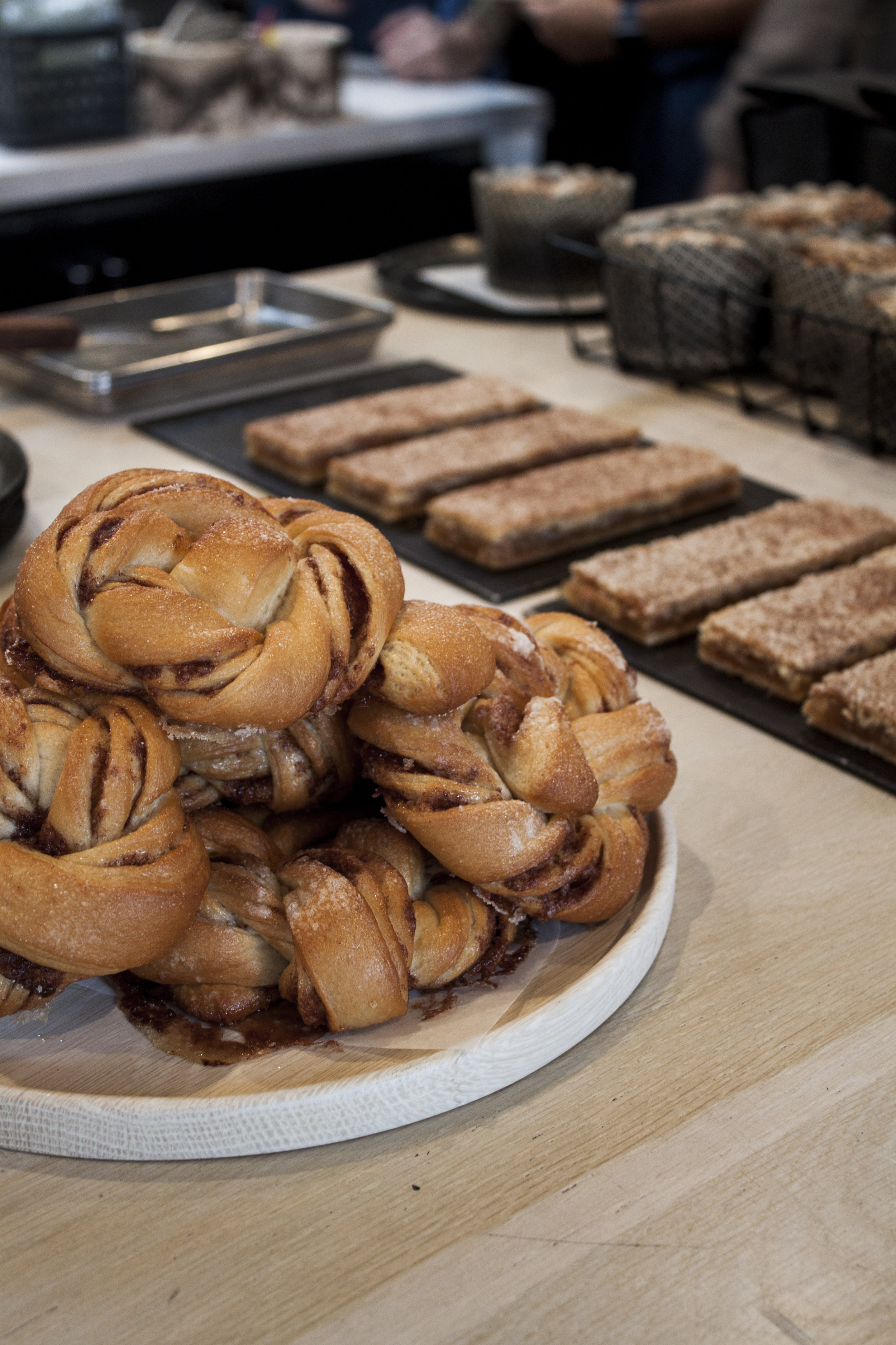 Freshly baked pastries at Destroyer