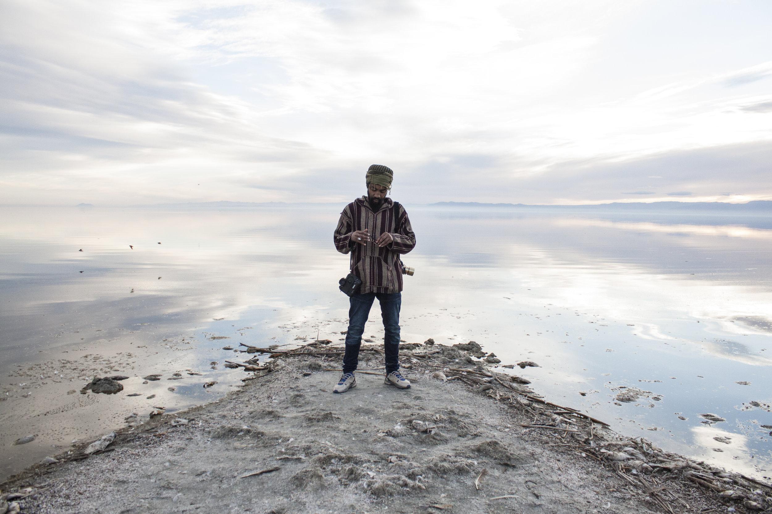 Maachew Bentley at the Salton Sea