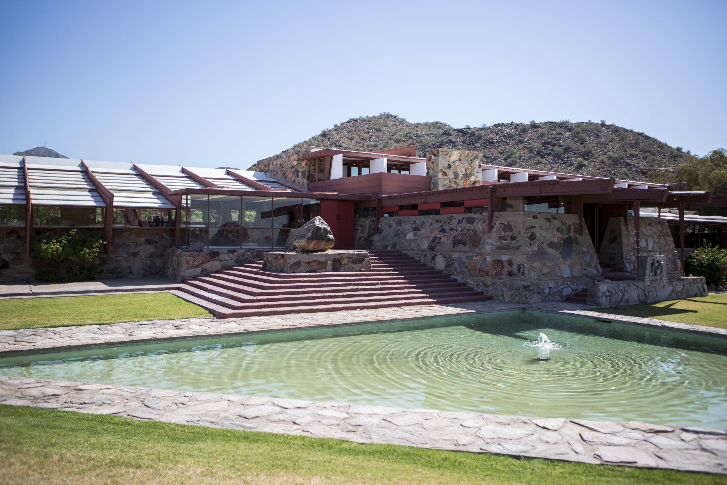 Exterior of Taliesin West, Scottsdale Arizona