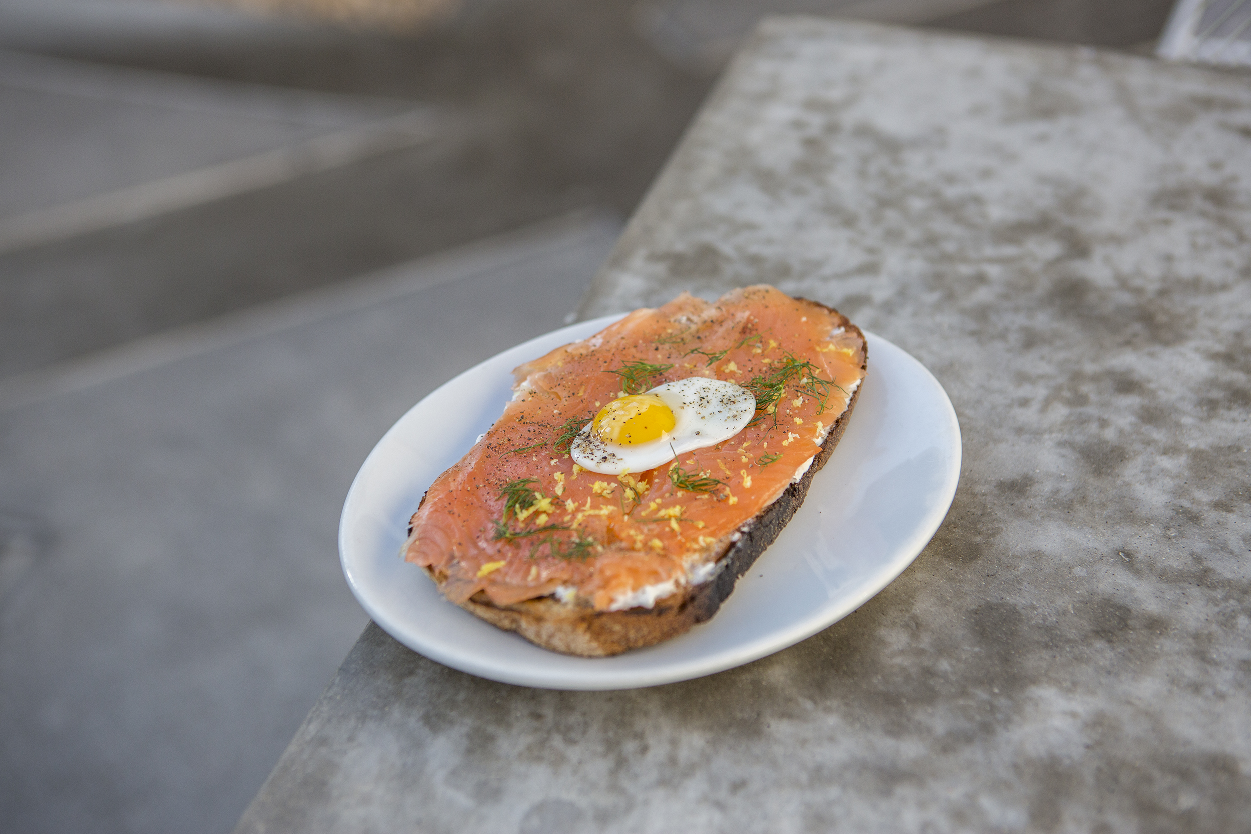 House-Cured Gravlax Tartine