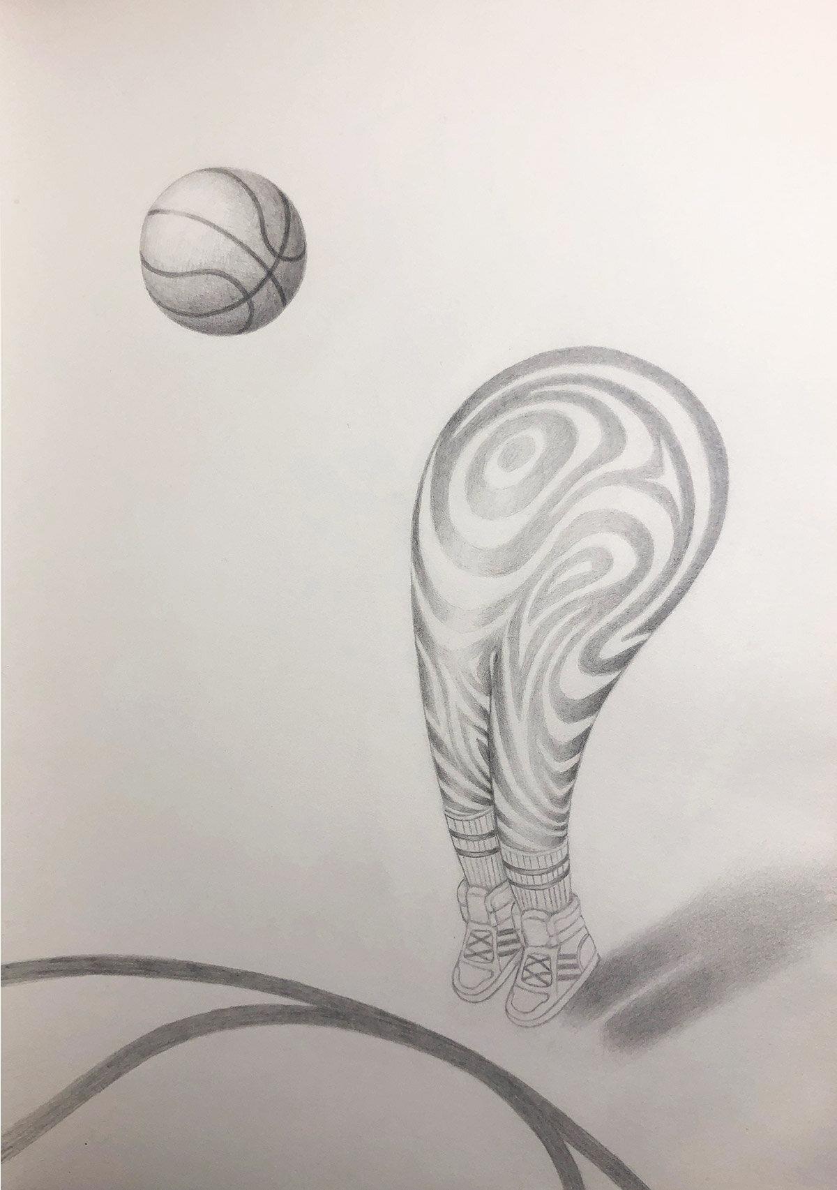 Basketball Blob Character