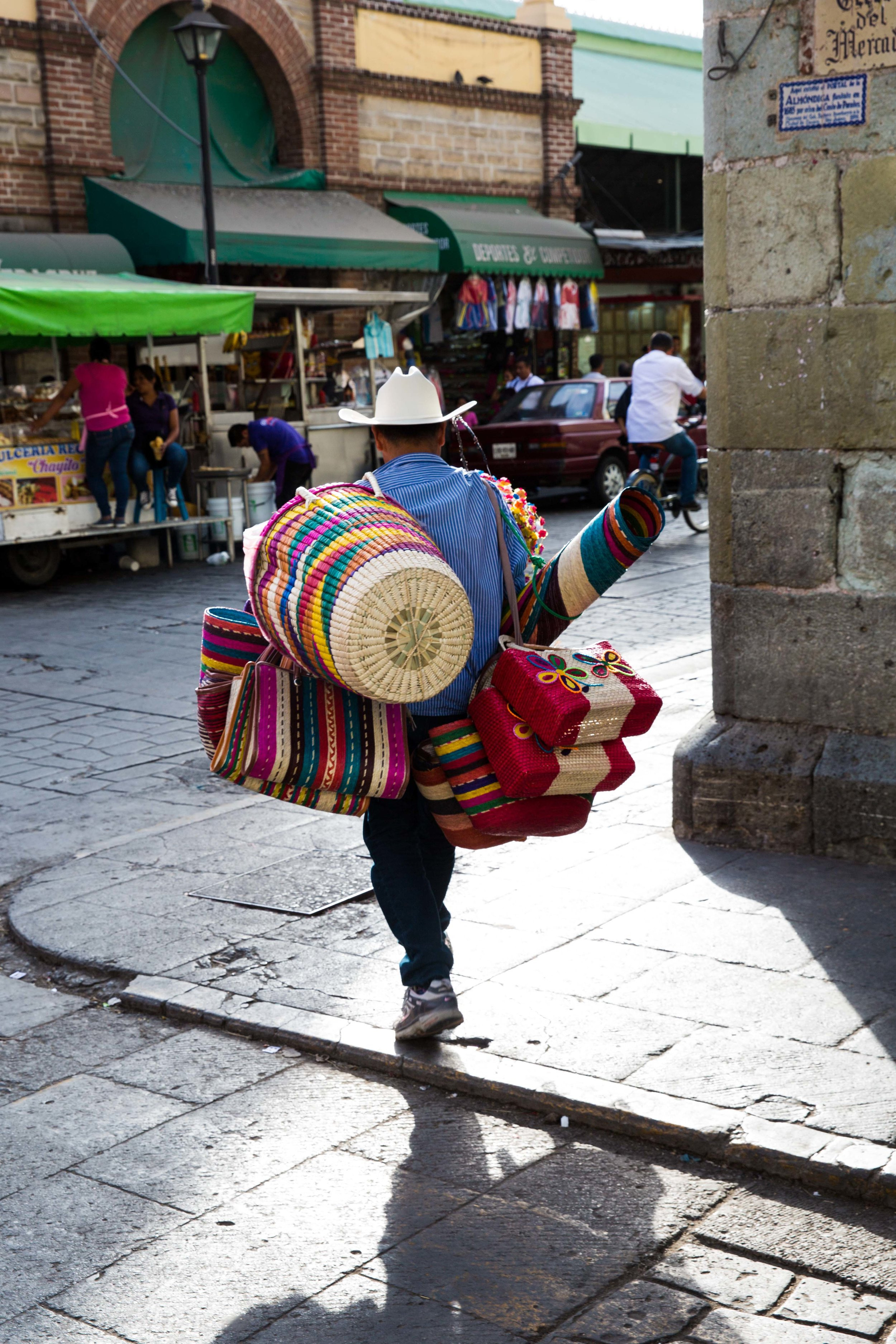 Street seller, Oaxaca