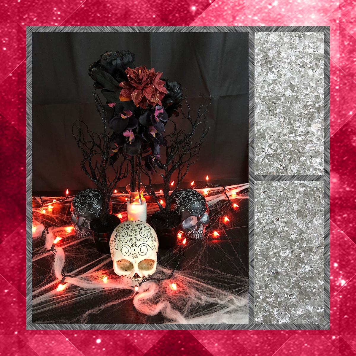 DIY Halloween Home Decor - Black Flowers Vase.png
