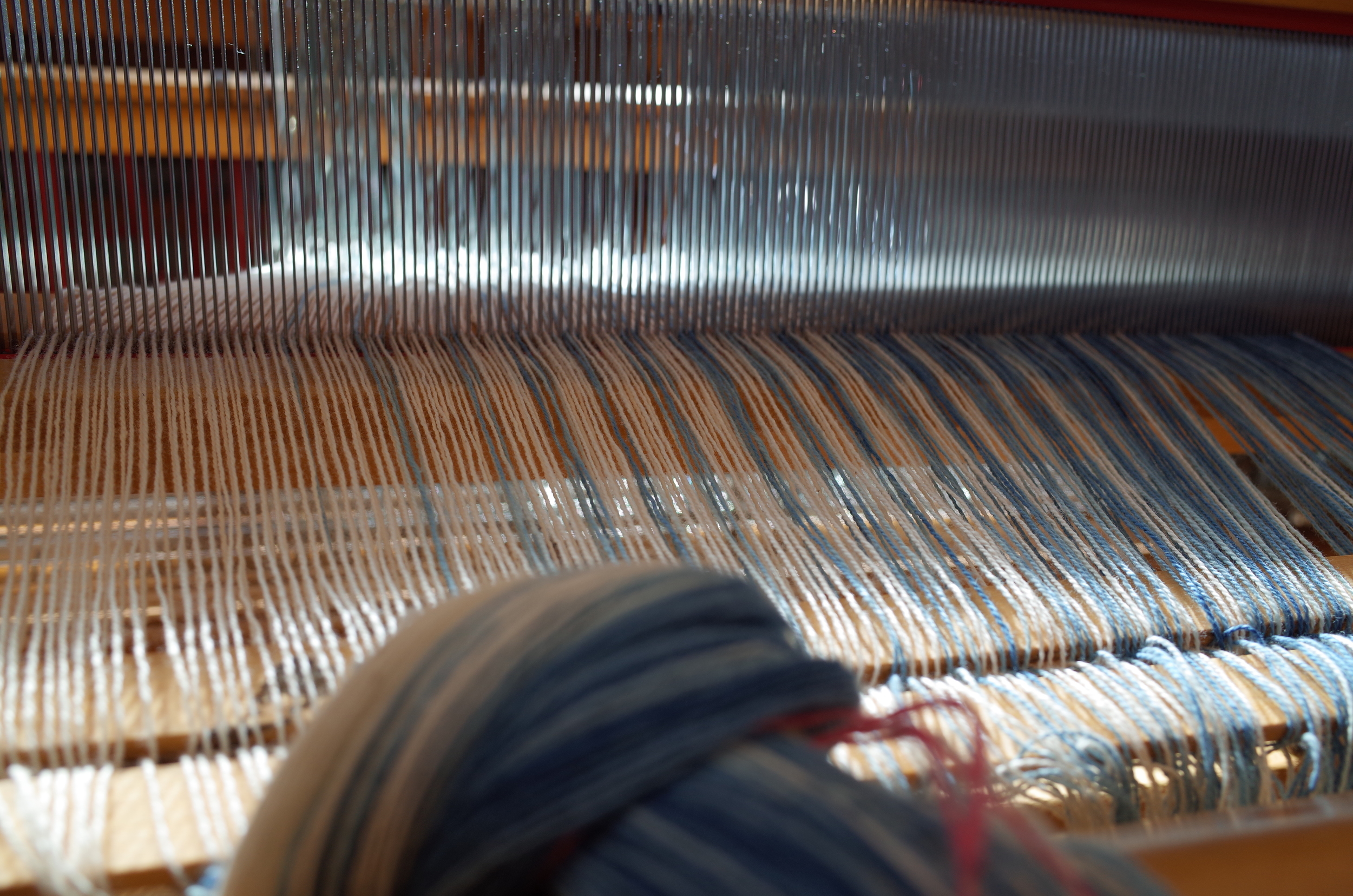 Time to begin winding the warp on!