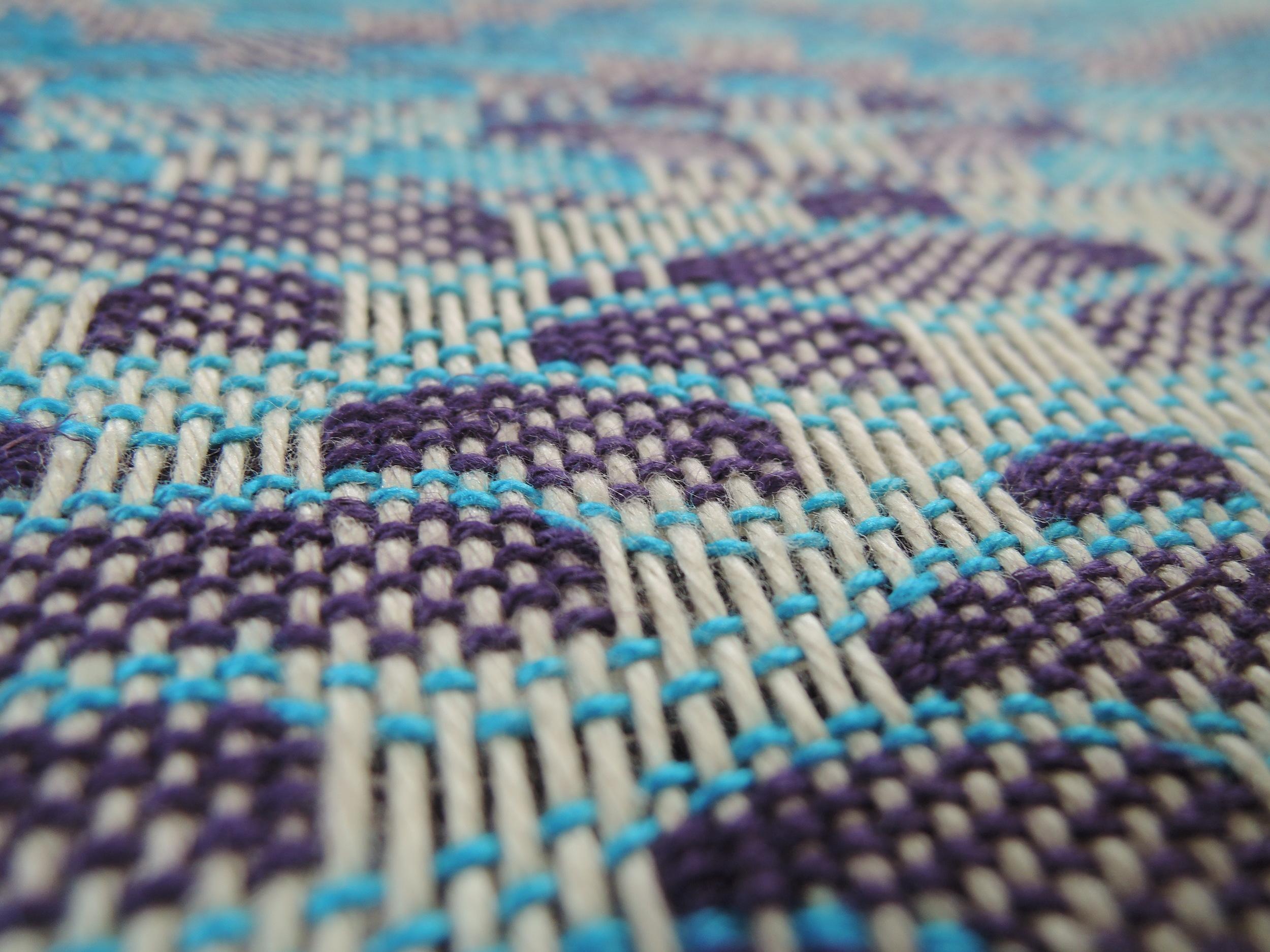 Detail shot of the undulating fibers.
