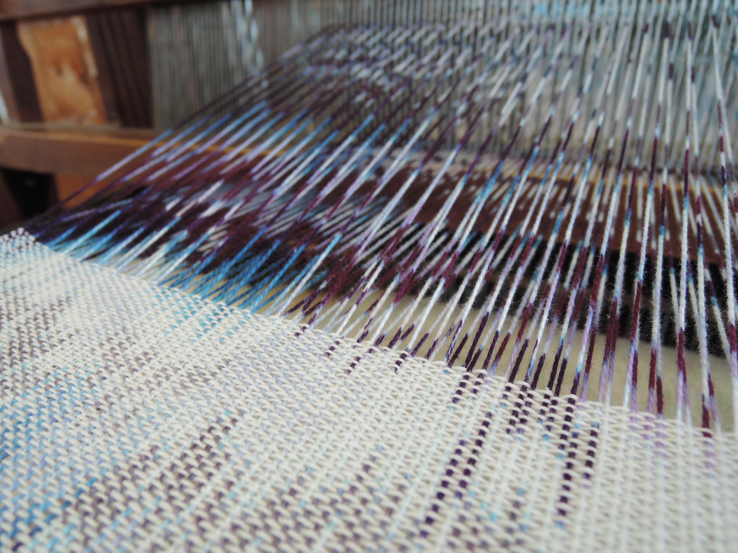 Mid weaving.
