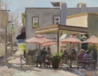 """Honorable Mention for Roy's Cafe, 11x14"""" oil"""