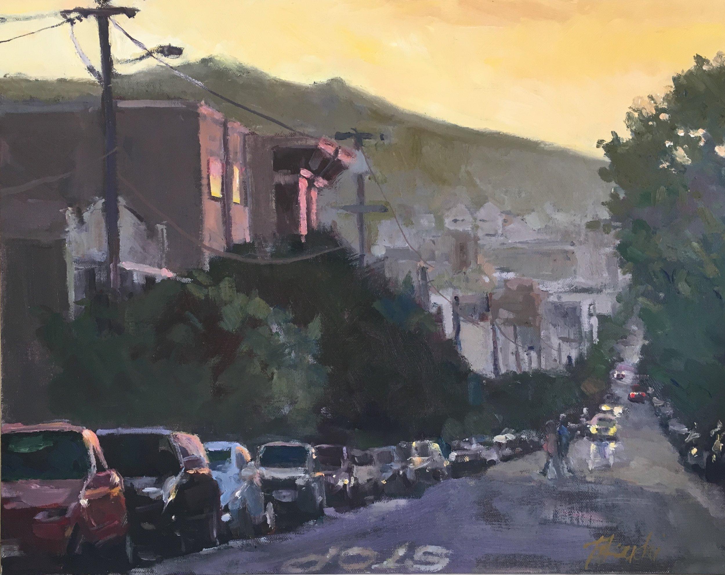 "San Francisco Twilight 11x14"""