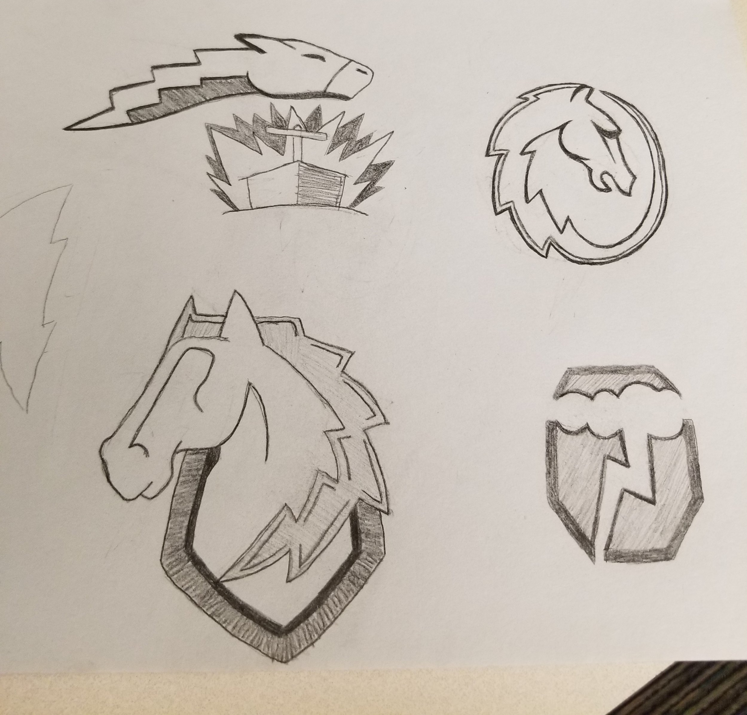Derby City Thunder Sketches