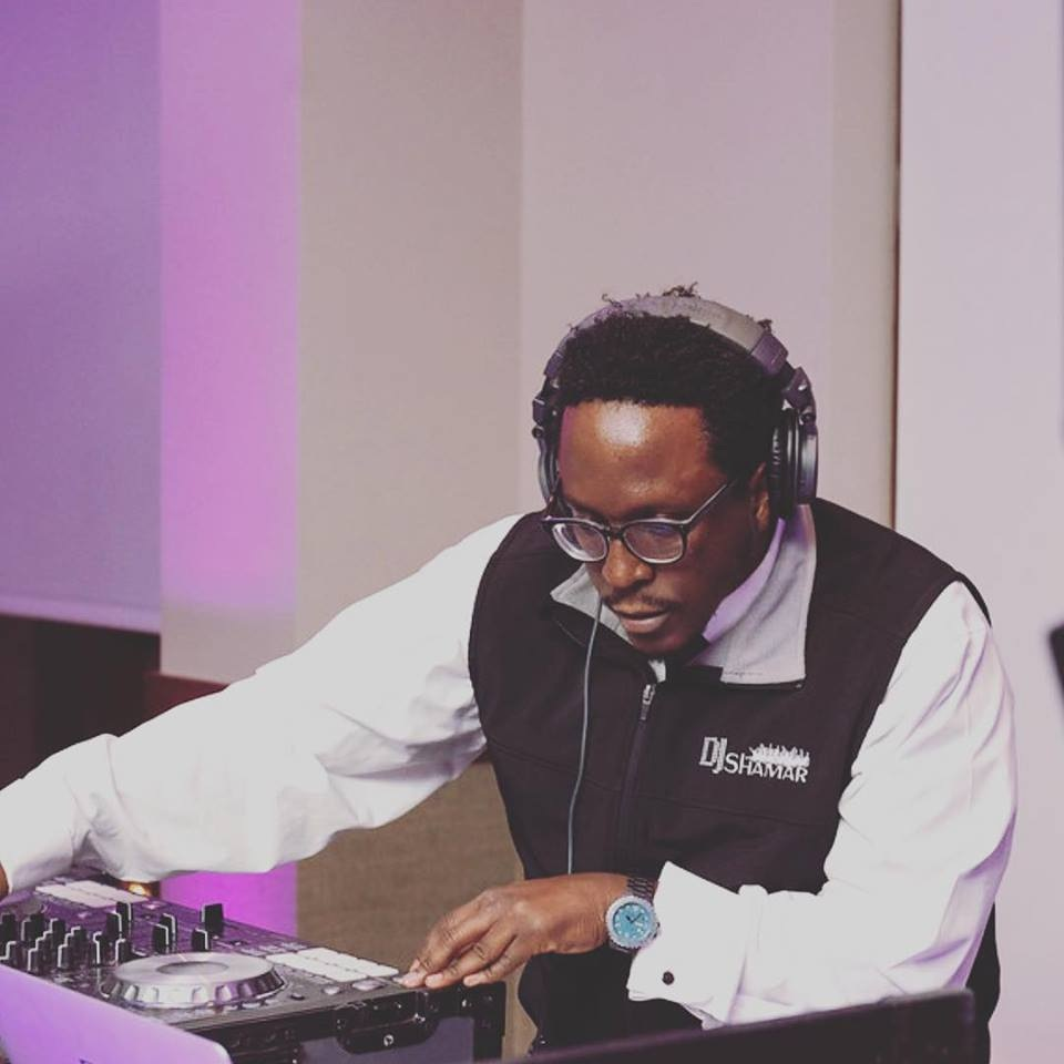 DJ SHAMAR , L.L.C Working at Haillie and Nate's wedding at Burke Mountain Hotel at East Burke, VT 05832