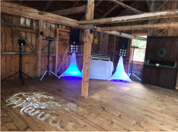 A PROFESSIONAL WEDDING DJ SET UP IS INCREDIBLE AND SIMPLE NOT OVER BEARING.