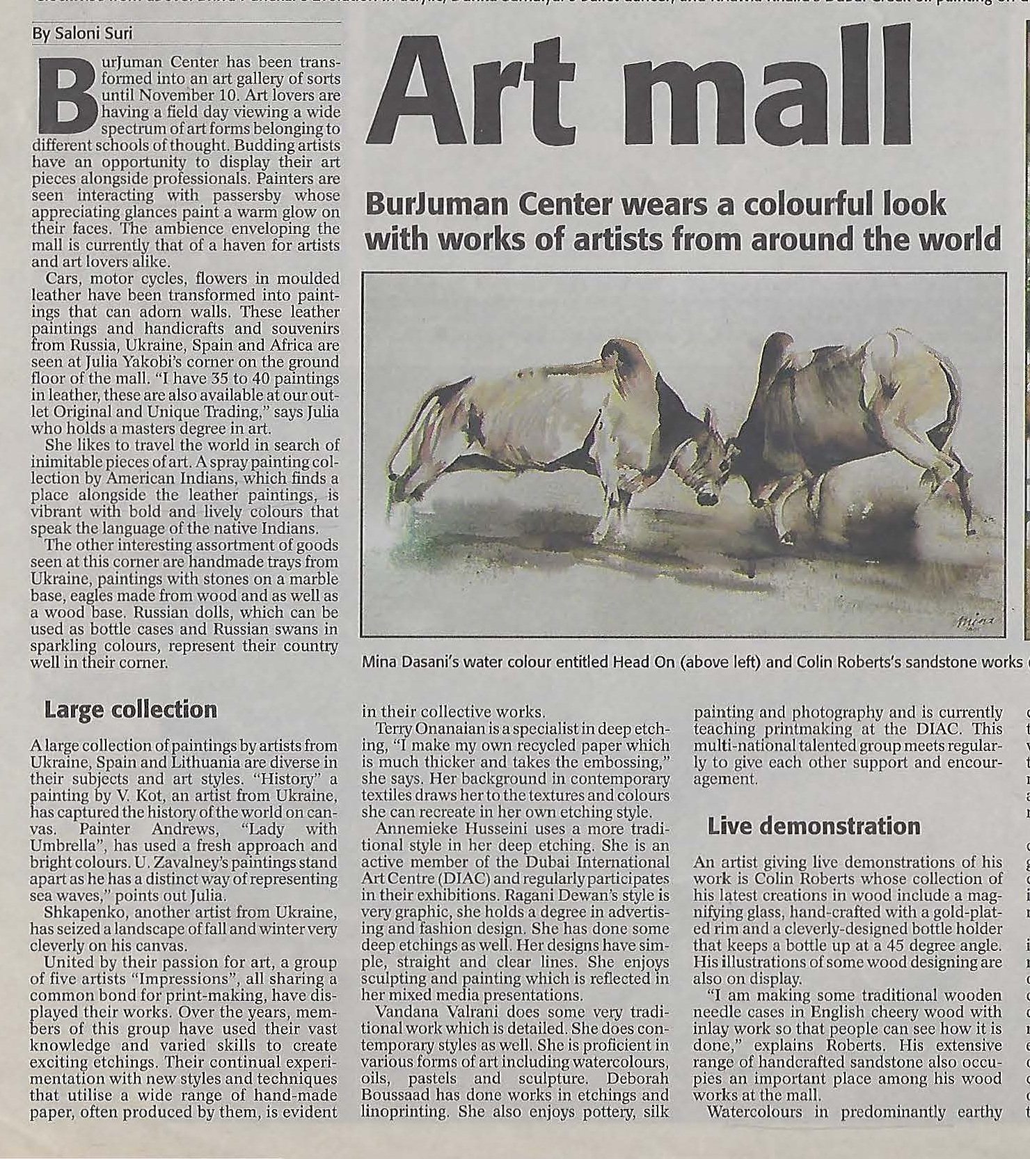 Press article of my exhibition along with an image of my watercolor painting.jpg