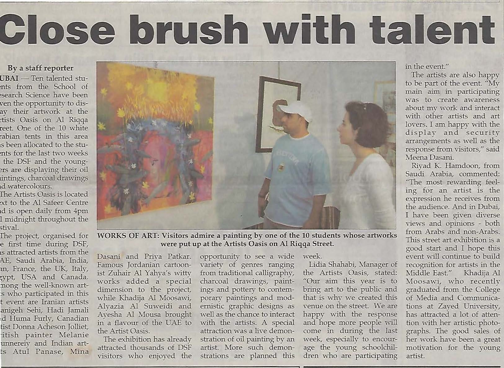 Press Article for Artists' Oasis Exhibition .jpg