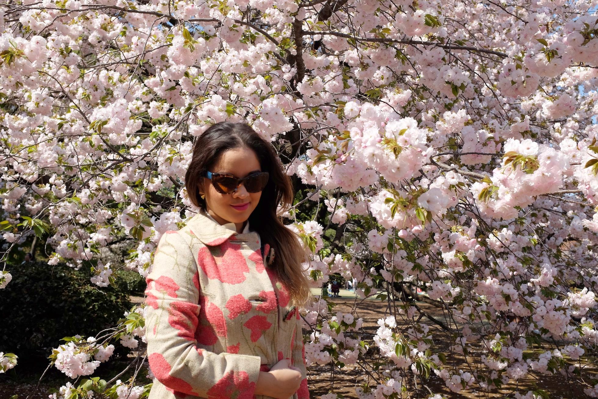 sakura, cherry blossom, Shinjuku, shinjuku gyoen national garden, flower, botany, botanical, Spring, Japan, Travel, photography, fashion photography, street photography, romance, love, Nezuki, blogger, MATRIOCHKA by Les Briqu'a * braque, Forever 21, Uniqlo, Lovisa, Prada, Sunglasses, kawaii, sweet, cute