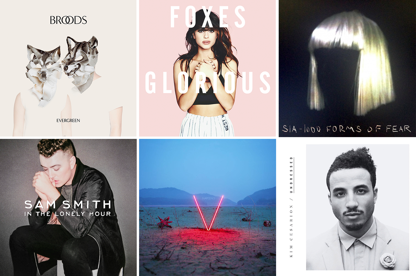 nezuki, broods, foxes, sia, sam smith, maroon 5, kim cesarion, music, artist, band, top 20, dance, audio