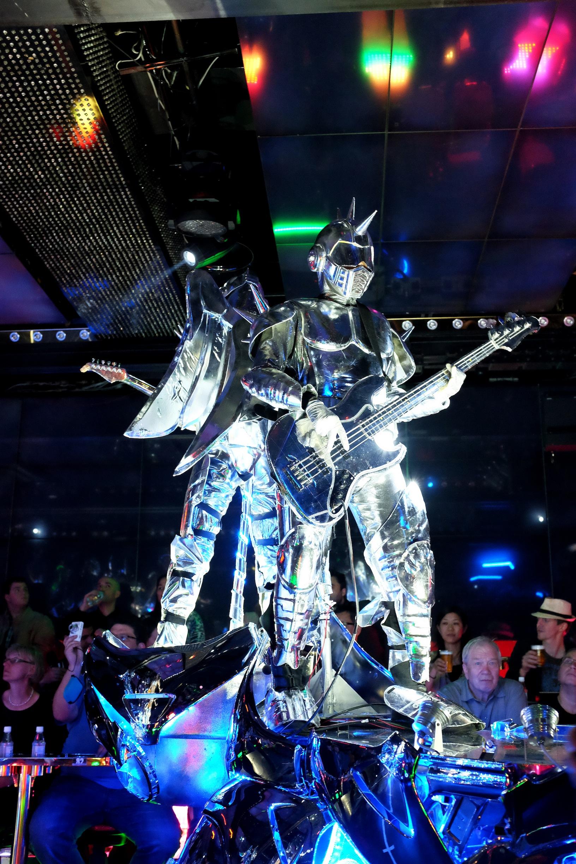 Robot Restaurant, Tokyo, Shinjuku, Robots, Japan, Japanese girls, Robotic, dance, restaurant, nightlife, Tokyo nightlife, drinks, travel, Japan travel, fun, vodka, beer, entertainment, studs, spikes, costume, mecha, lights, artistic, fashion, interest, Nezuki, blogger, music, live entertainment, show, cabaret, show restaurant