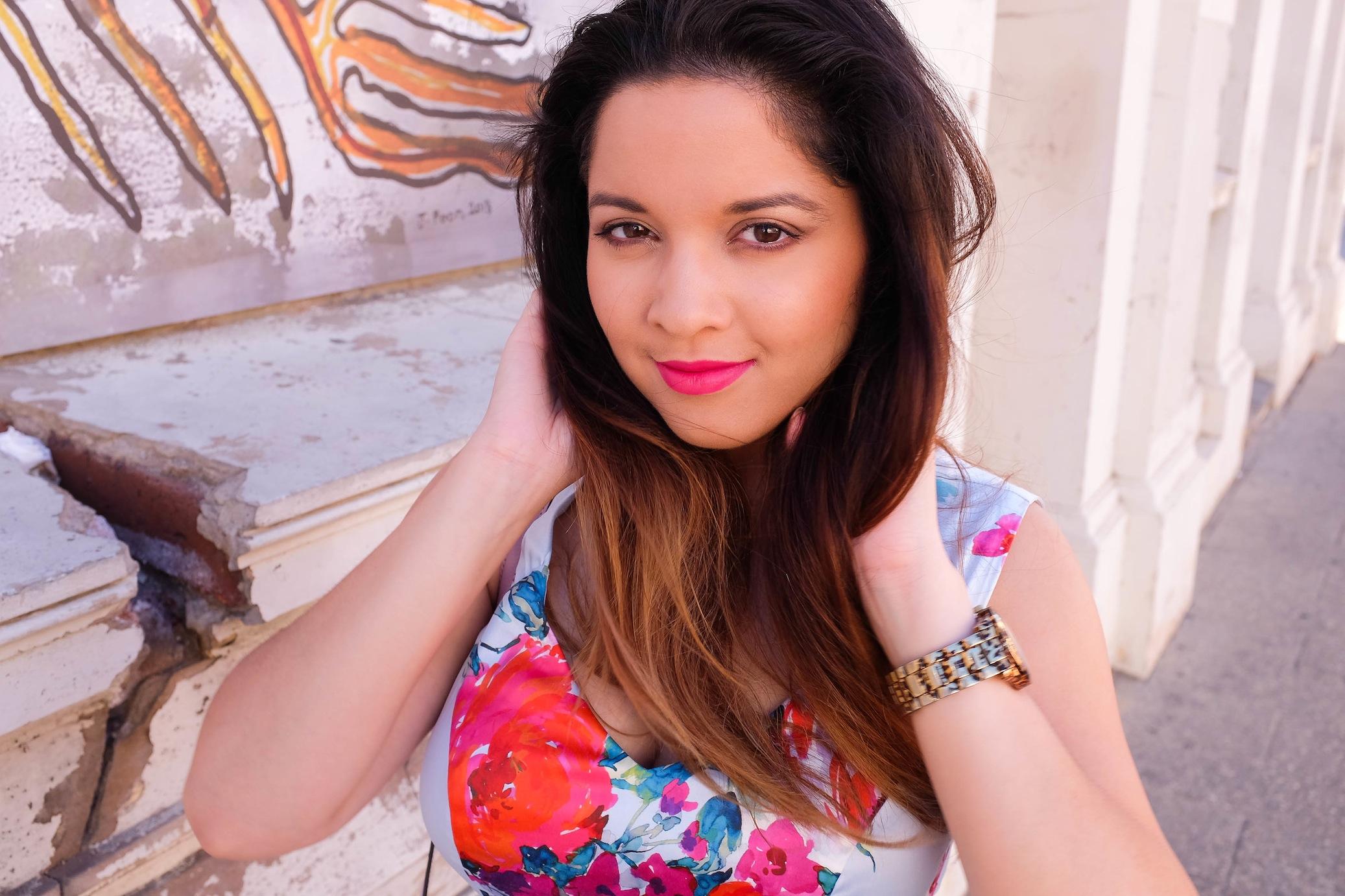 nezuki, fremantle, mimco, review, floral, fiesta, leather, orange heels, floral print, dress, day dress, guess, fashion, style, fashion photography, vanessa collars, stylish, perth, sydney, sydney blogger, fashion blogger, cute, kawaii, street style