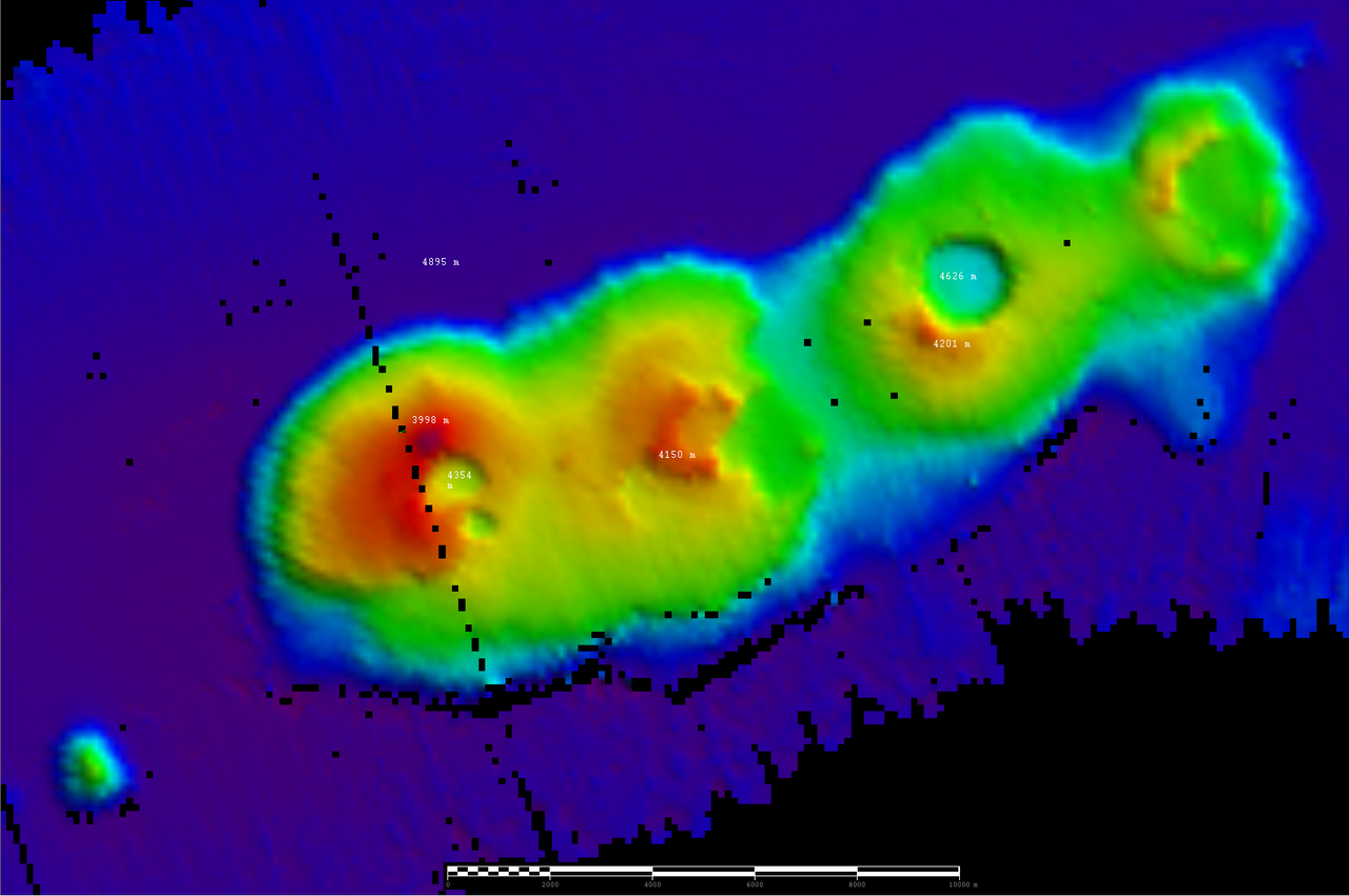 Sydney volcanoes scan from RV Investigator
