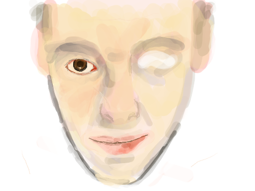 The beginnings of a self portait.