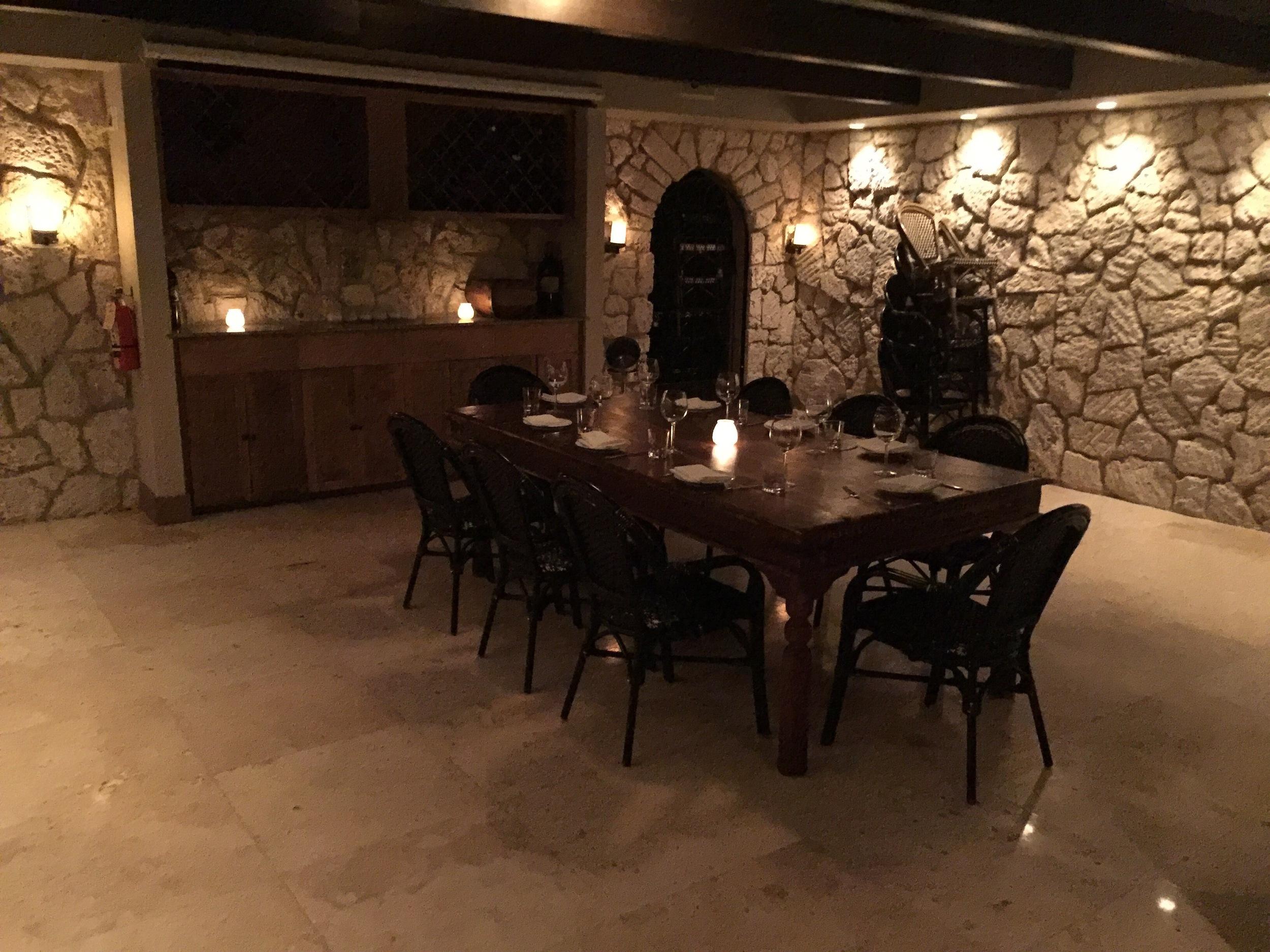 Underground Private Dining at Ariete