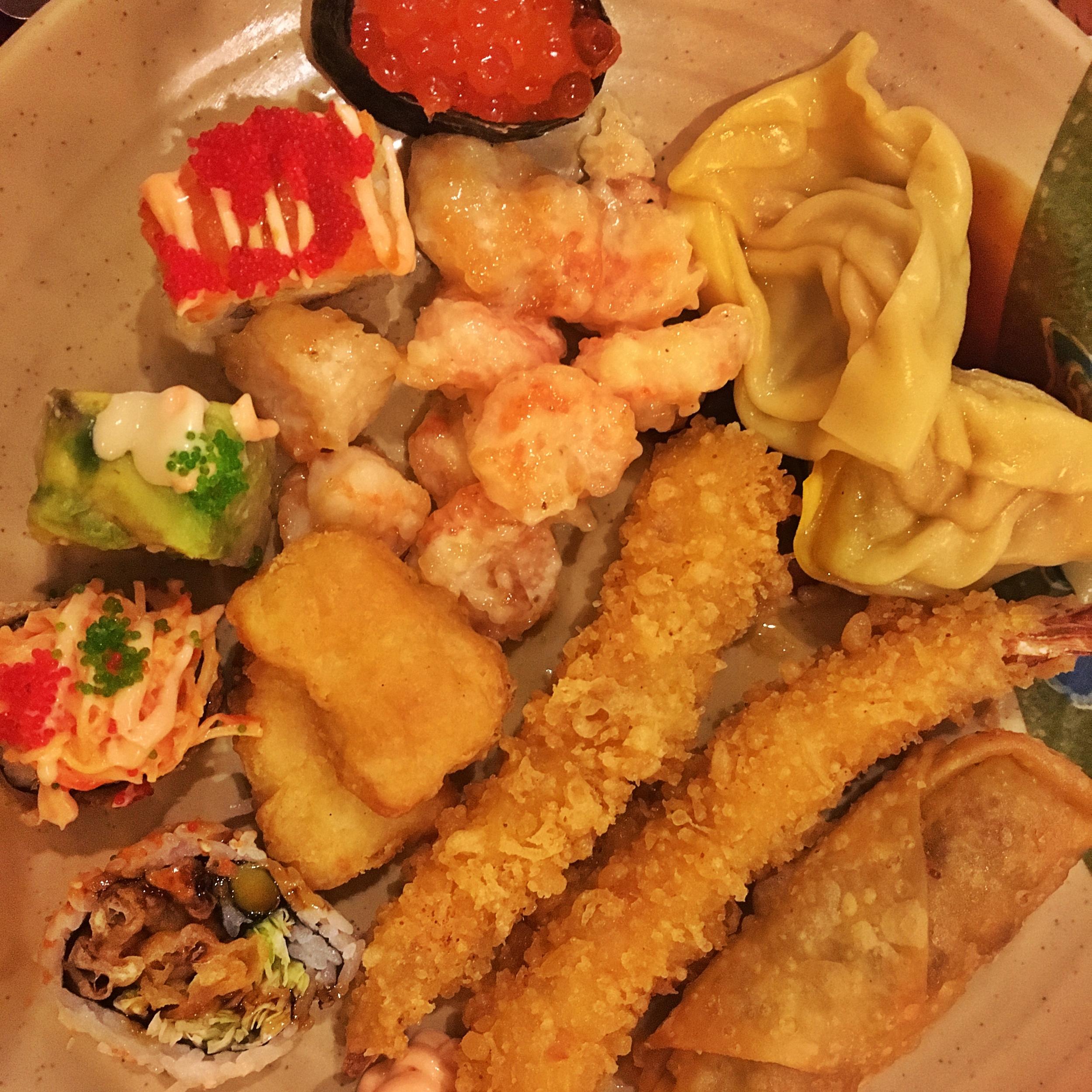 Sushi and tempura!