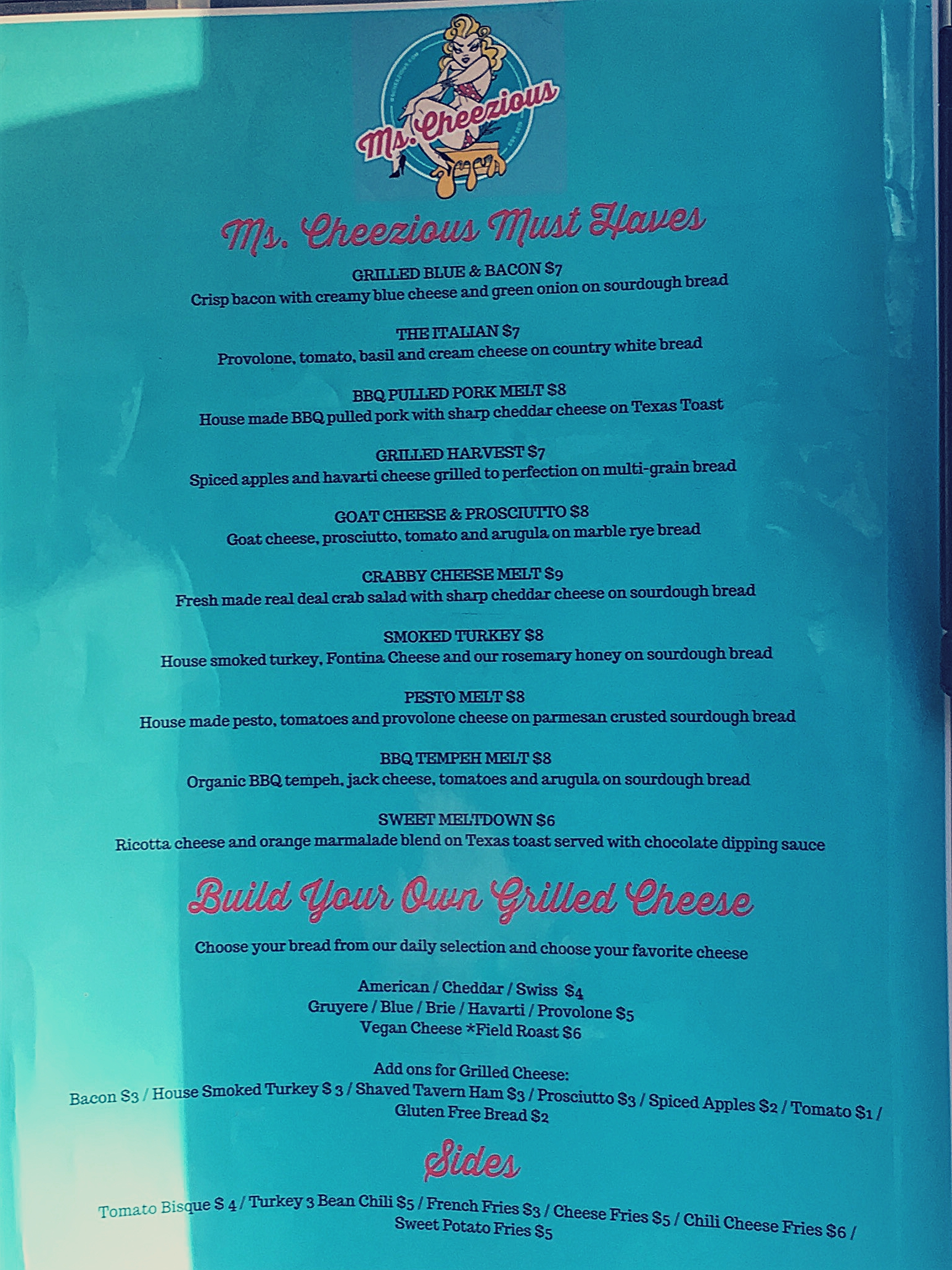 Ms Cheezious Menu and Price