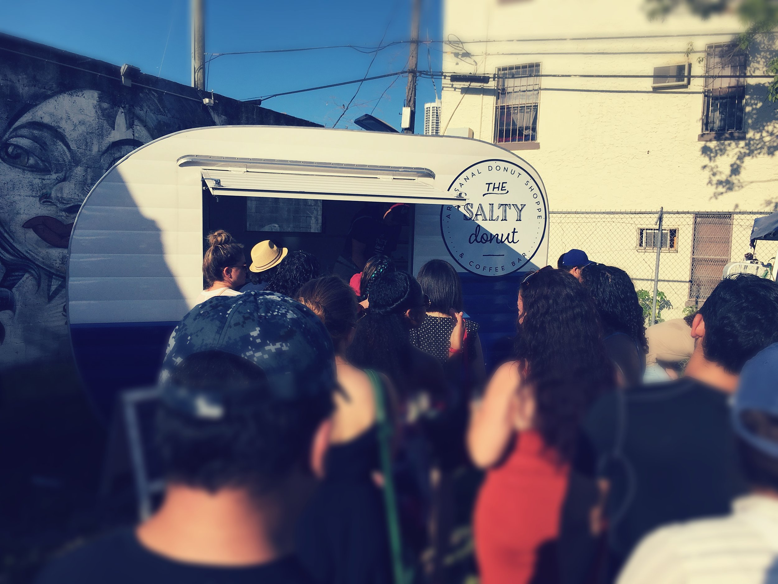 Long Queue At The Salty Donut
