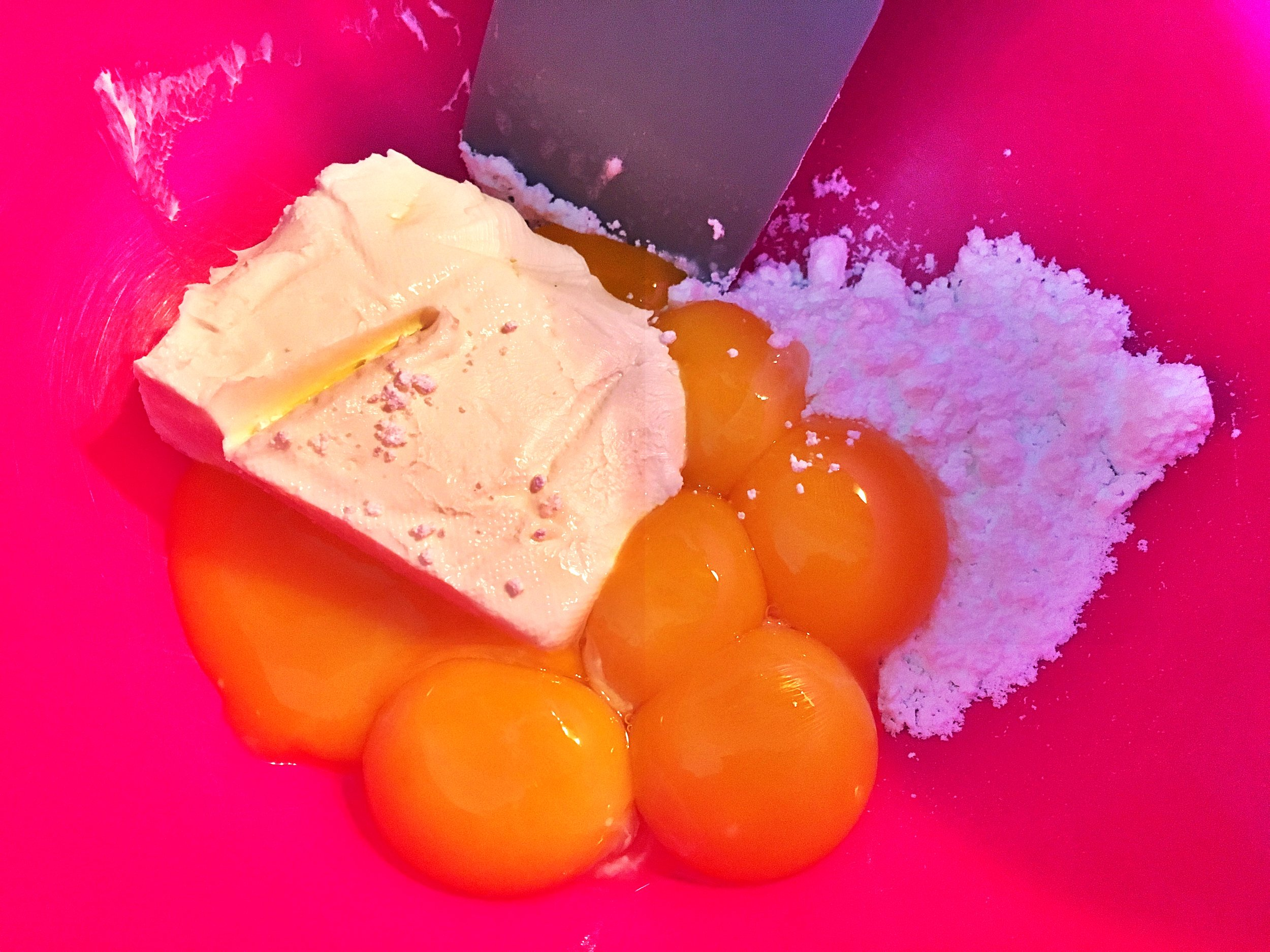 Soft cheese and yolk