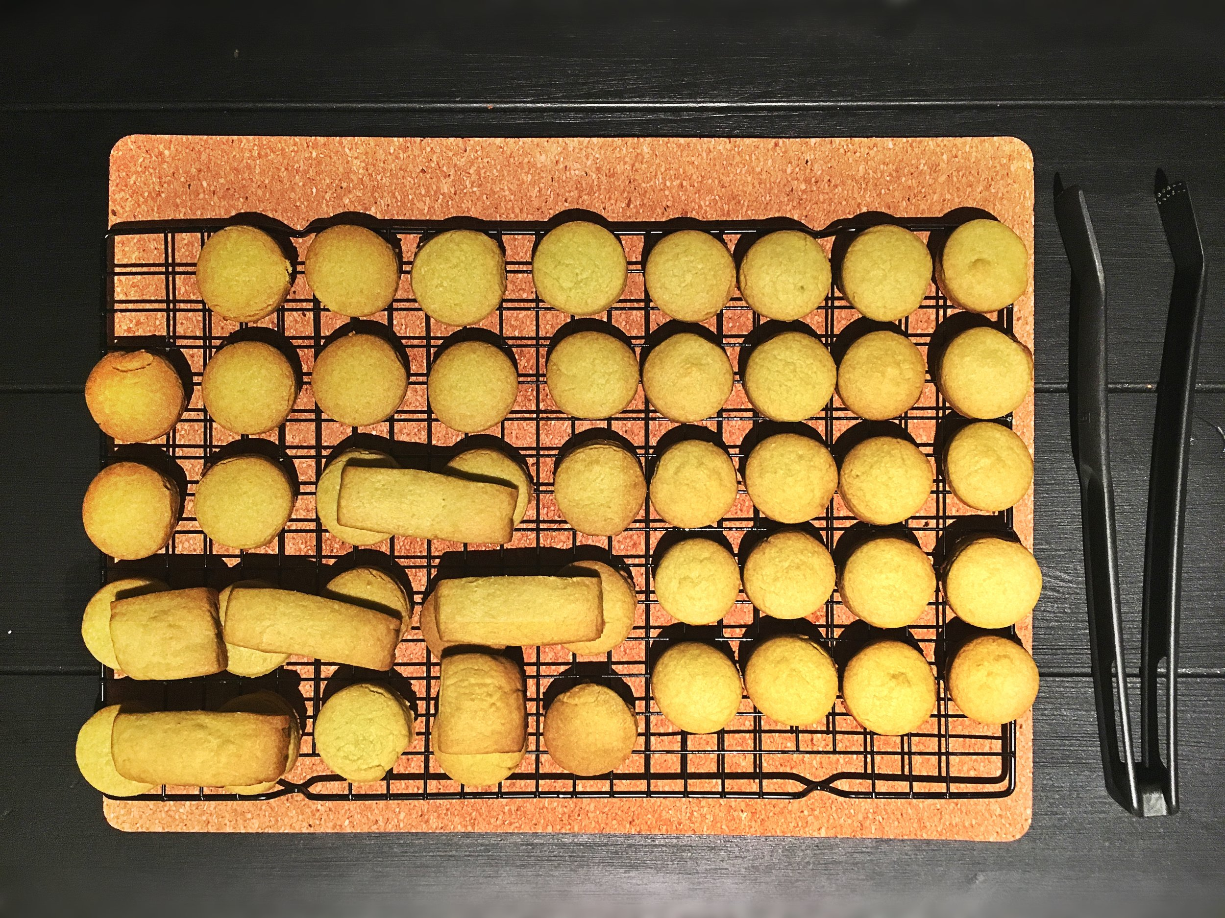 Makes about 50 cookies depending on how big you want them. These are about 1.5 inches which are the perfect size for tea time munchies. They are also very much a Chinese New Year favourite in Singapore!