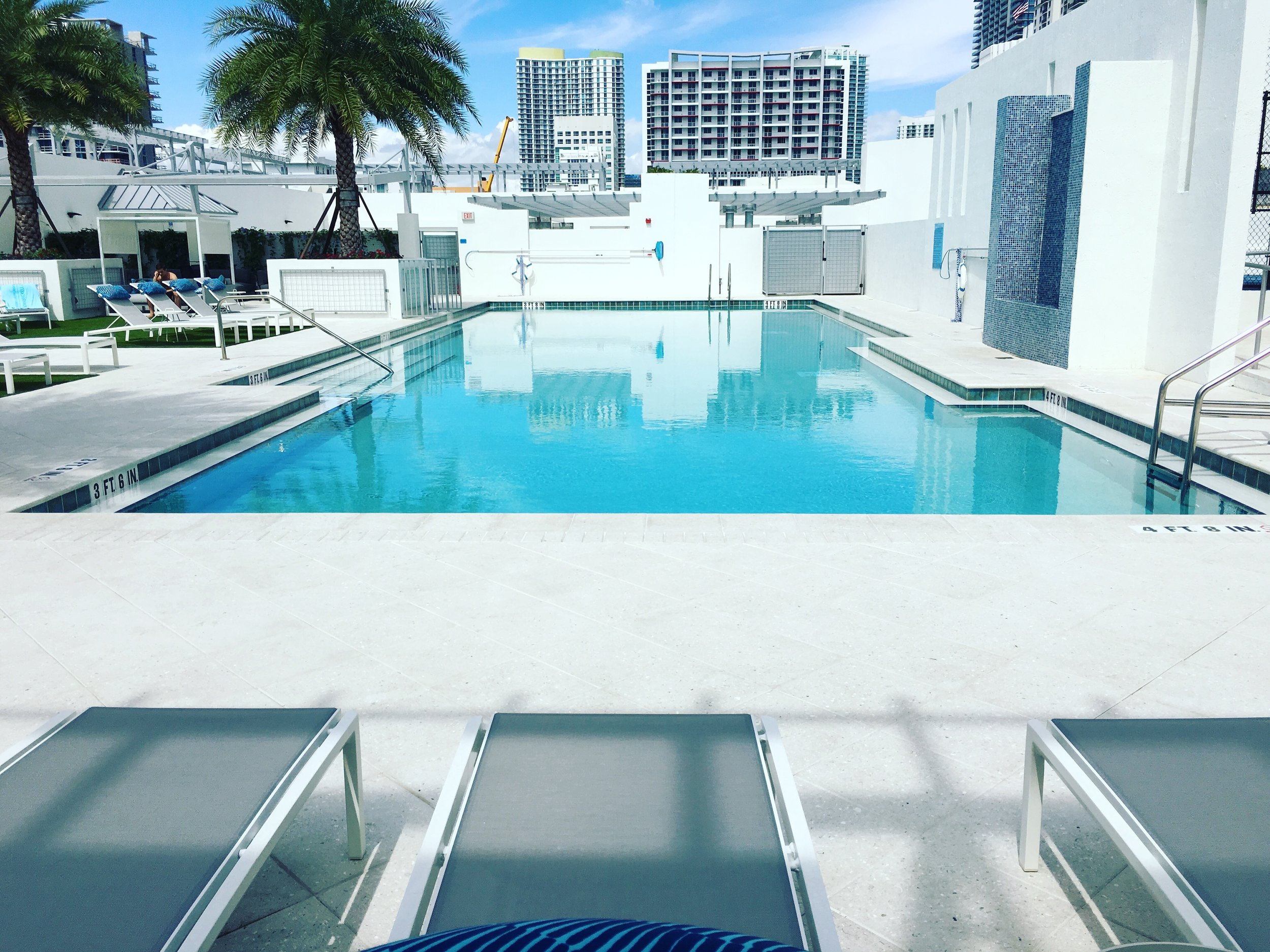 Our rooftop pool