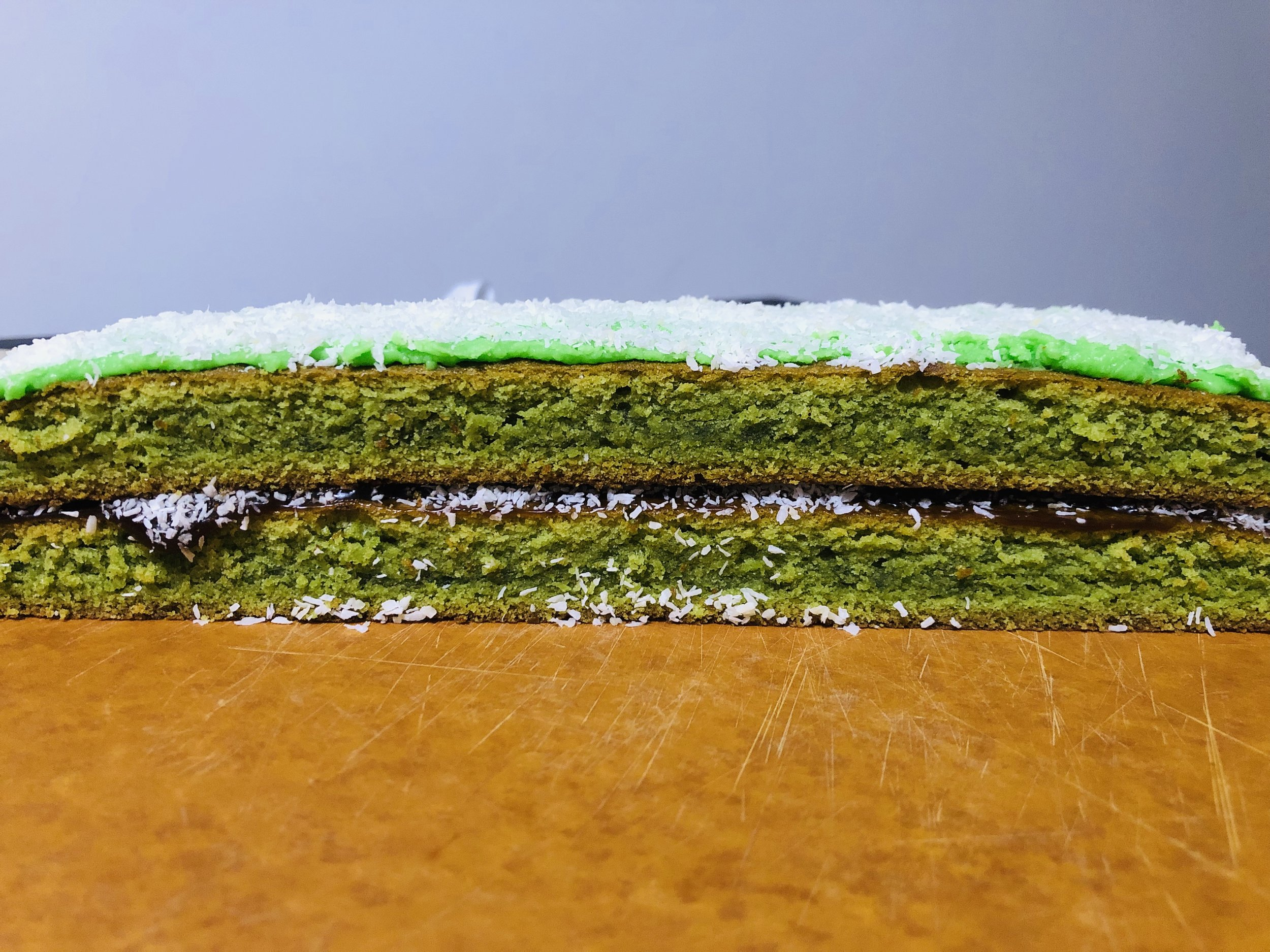 Ondeh Ondeh Cake with Okinawa Black Sugar Frosting