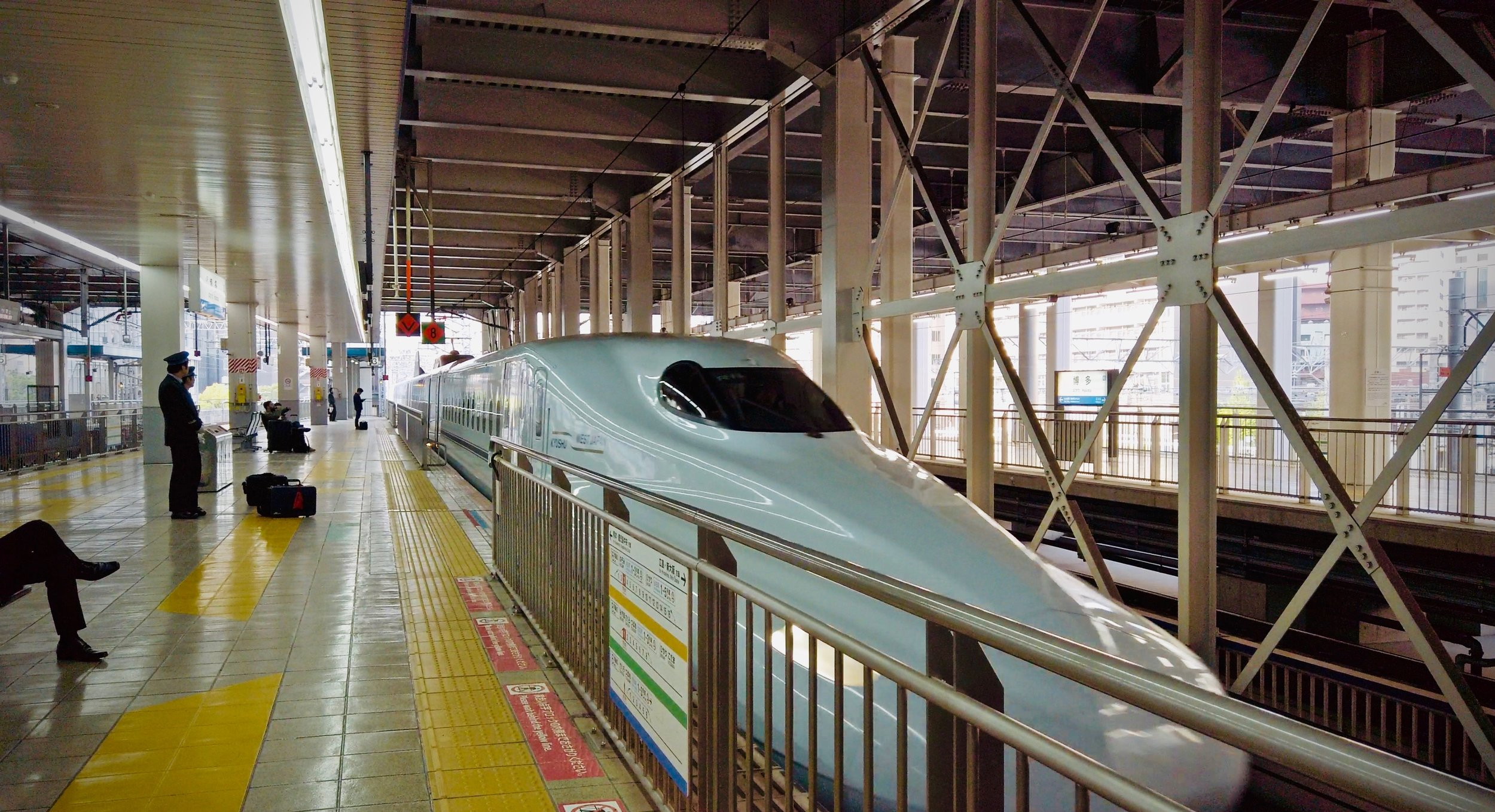 The JR Pass will let you ride on the Shinkansen, Japanese Bullet Trains unlimited.