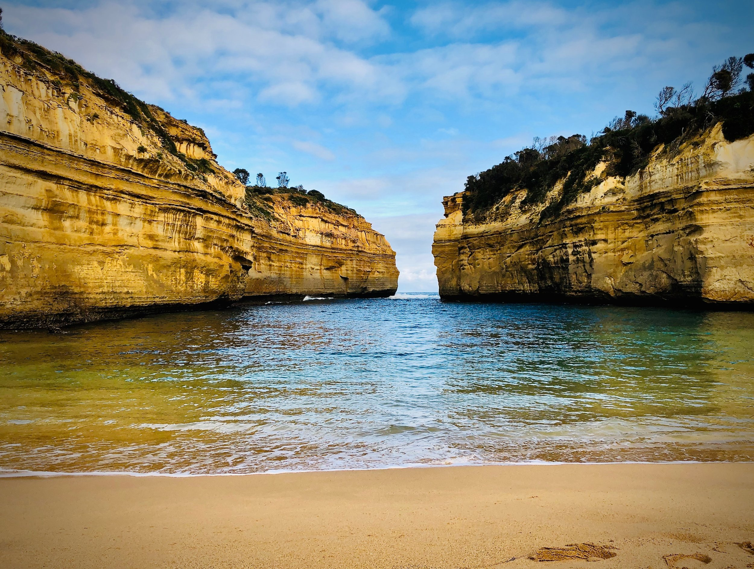 Loch Ard Gorge. We managed to beat the crowd by arriving early to get good pictures.