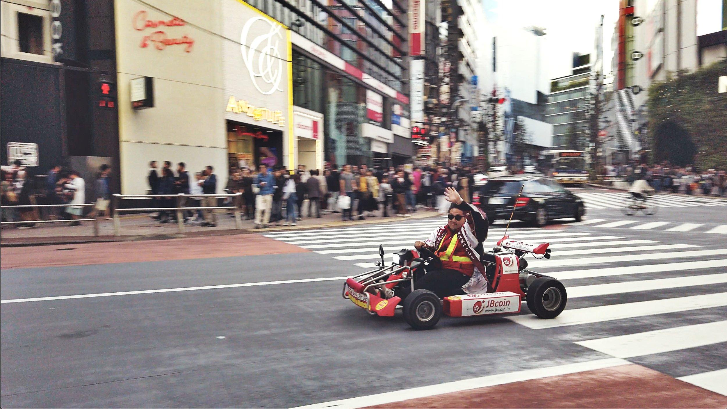 Mario Karting at Shibuya