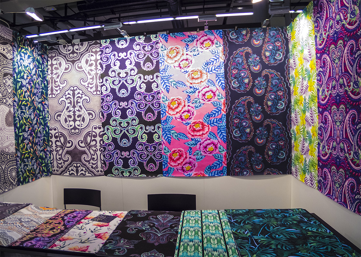 Our stand on Heimtextil.  Left side is Natasha Levental's beautiful designs, right - me, Elena Belokrinitski