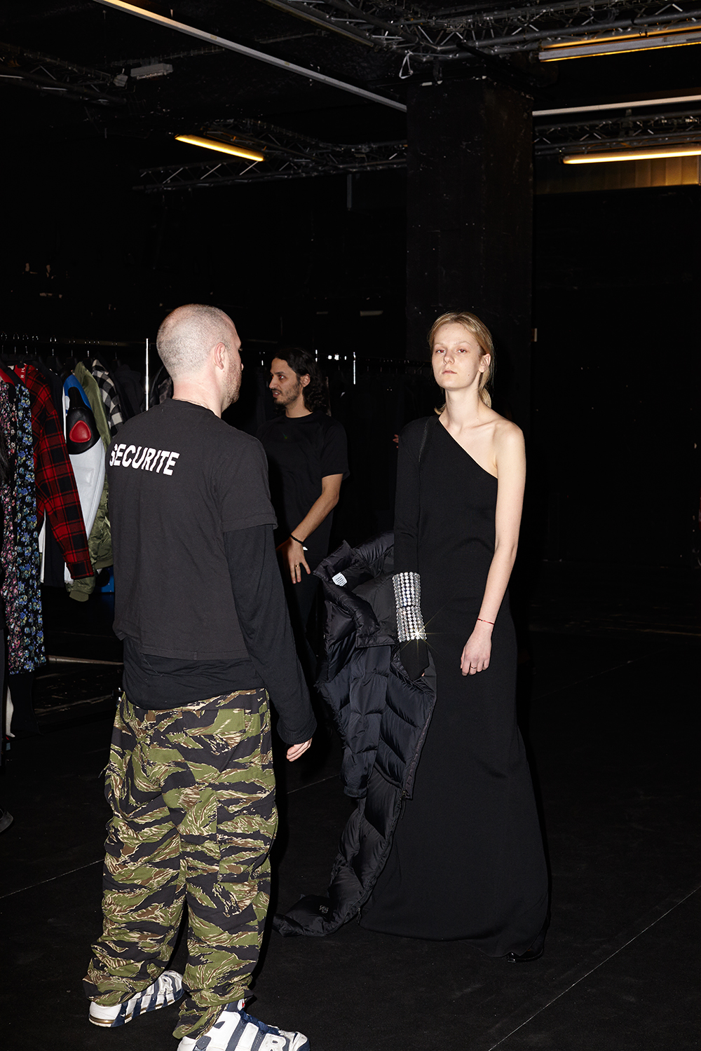 Demna Gvasalia with model, Vetements, Paris Yahoo Style March 2015